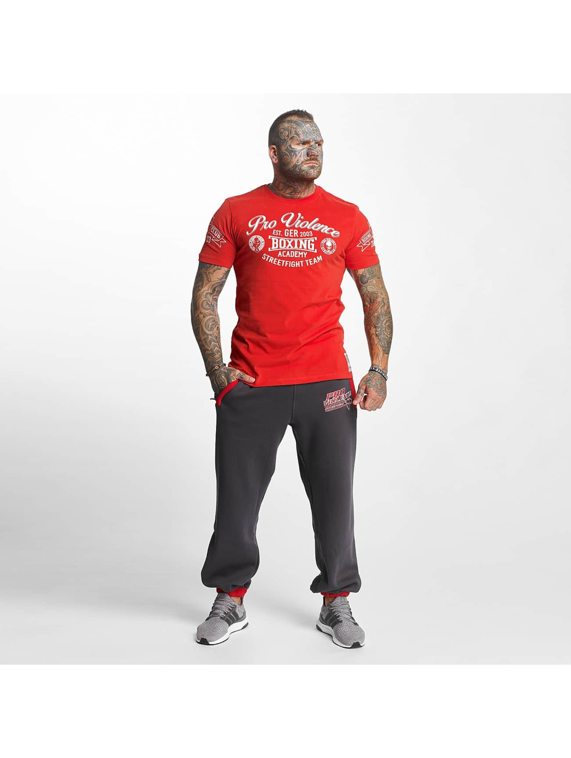 Pro Violence Streetwear T-Shirt Streetwear Boxing Club red