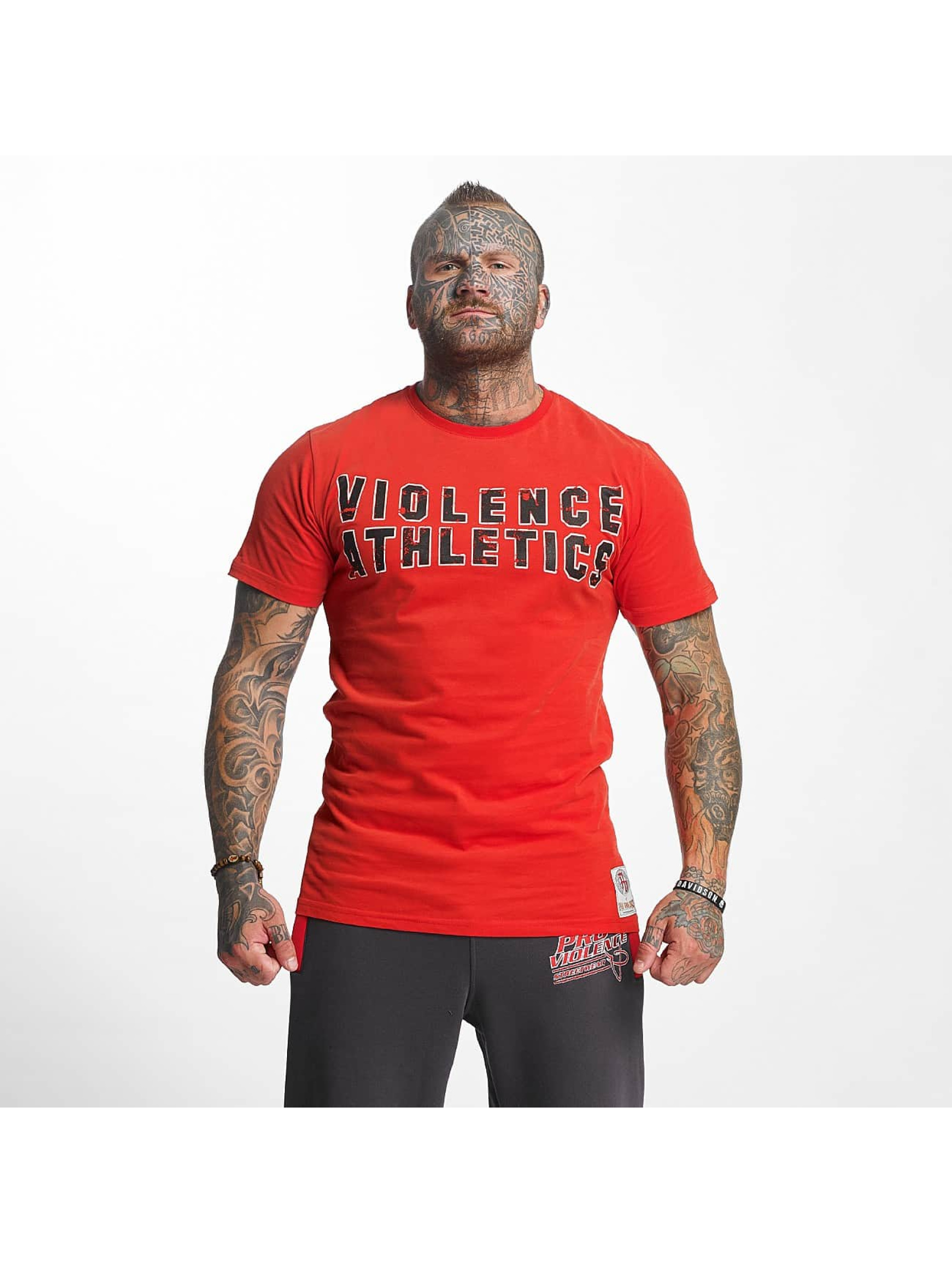 Pro Violence Streetwear t-shirt Athletics rood