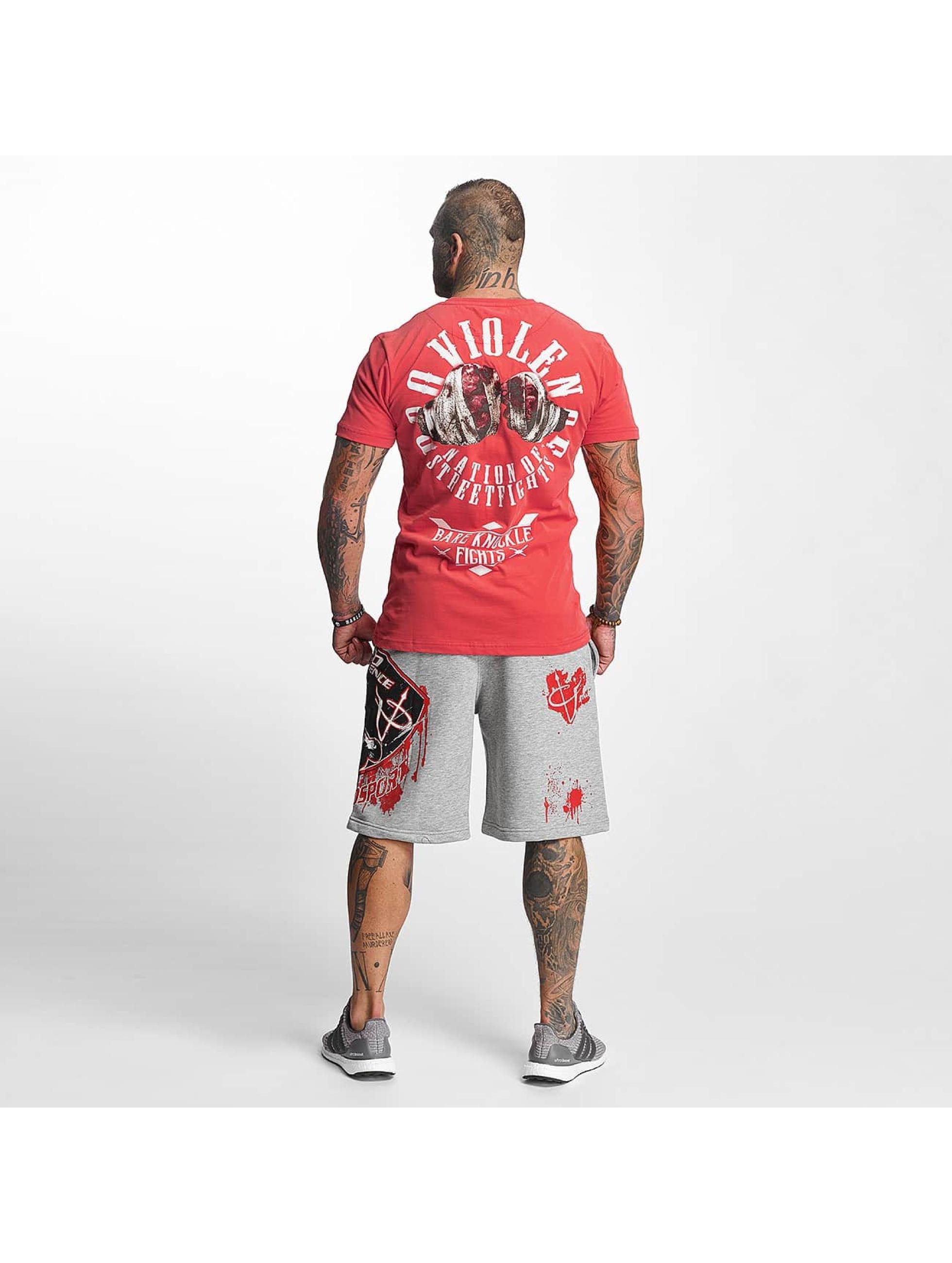 Pro Violence Streetwear t-shirt Knuckle Bare rood