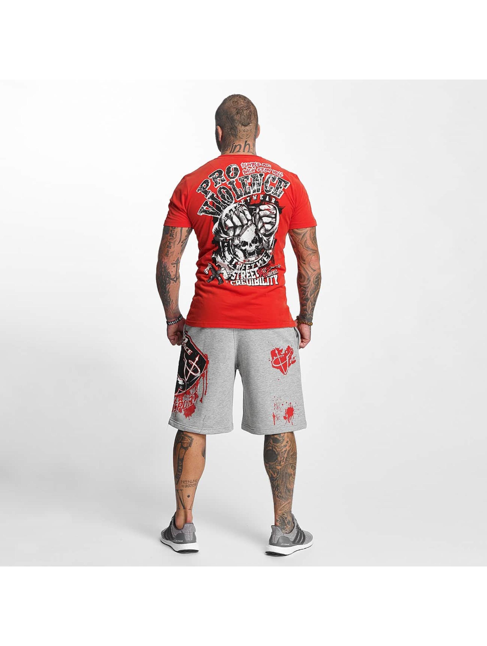 Pro Violence Streetwear T-Shirt Street Ceidbilty rouge
