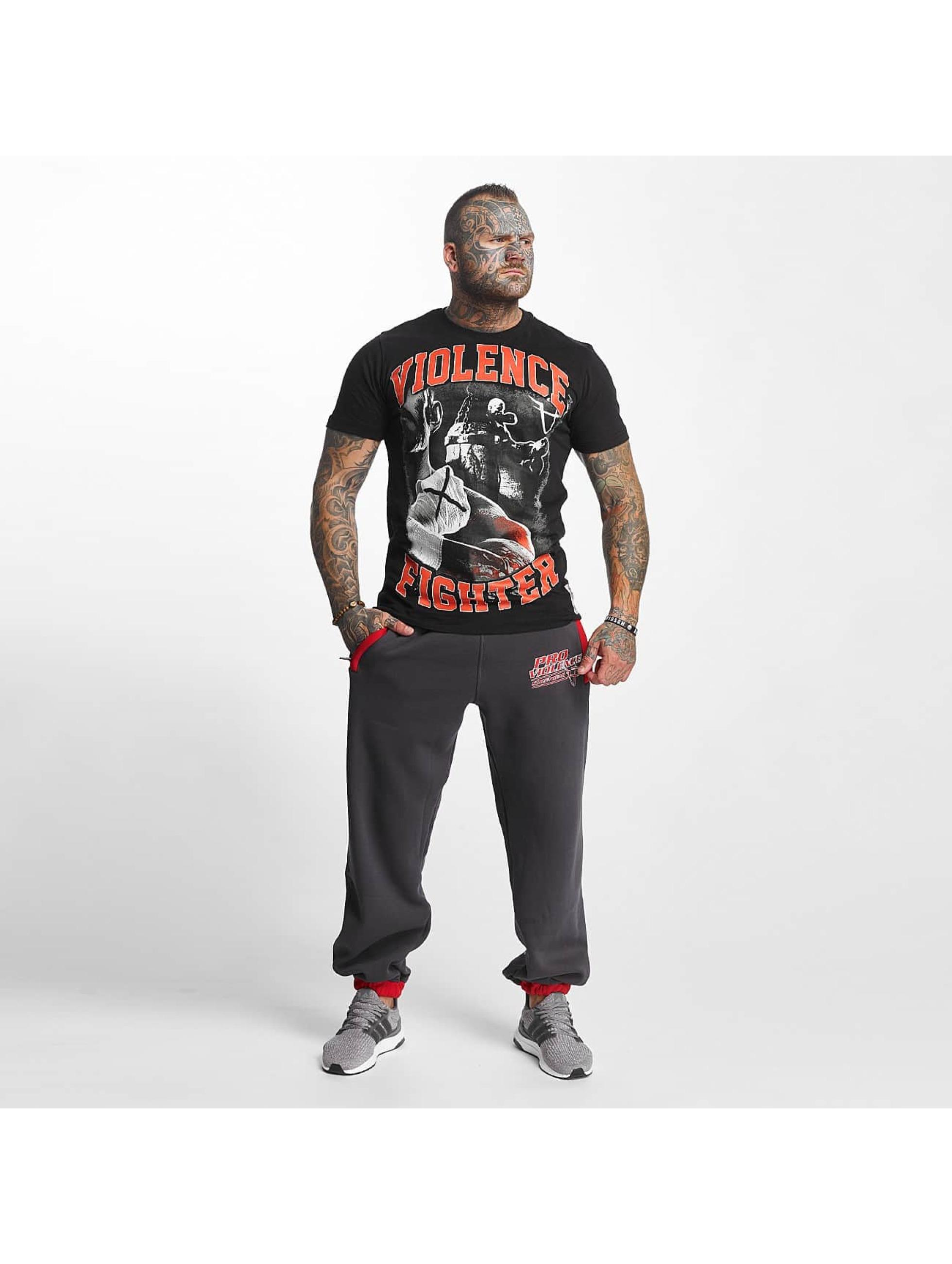 Pro Violence Streetwear T-Shirt Fighter schwarz