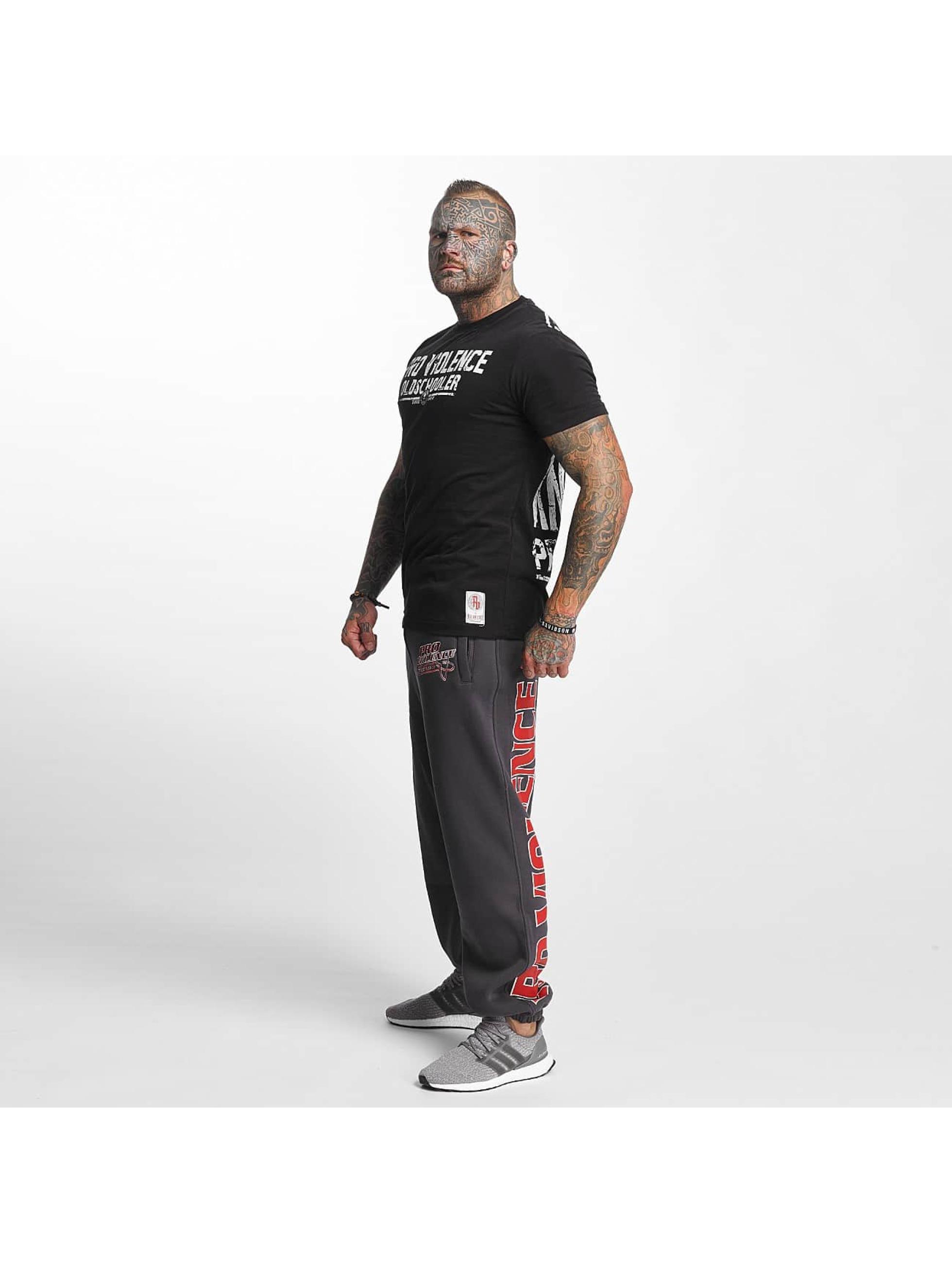 Pro Violence Streetwear T-Shirt Oldschool Hardknocker schwarz