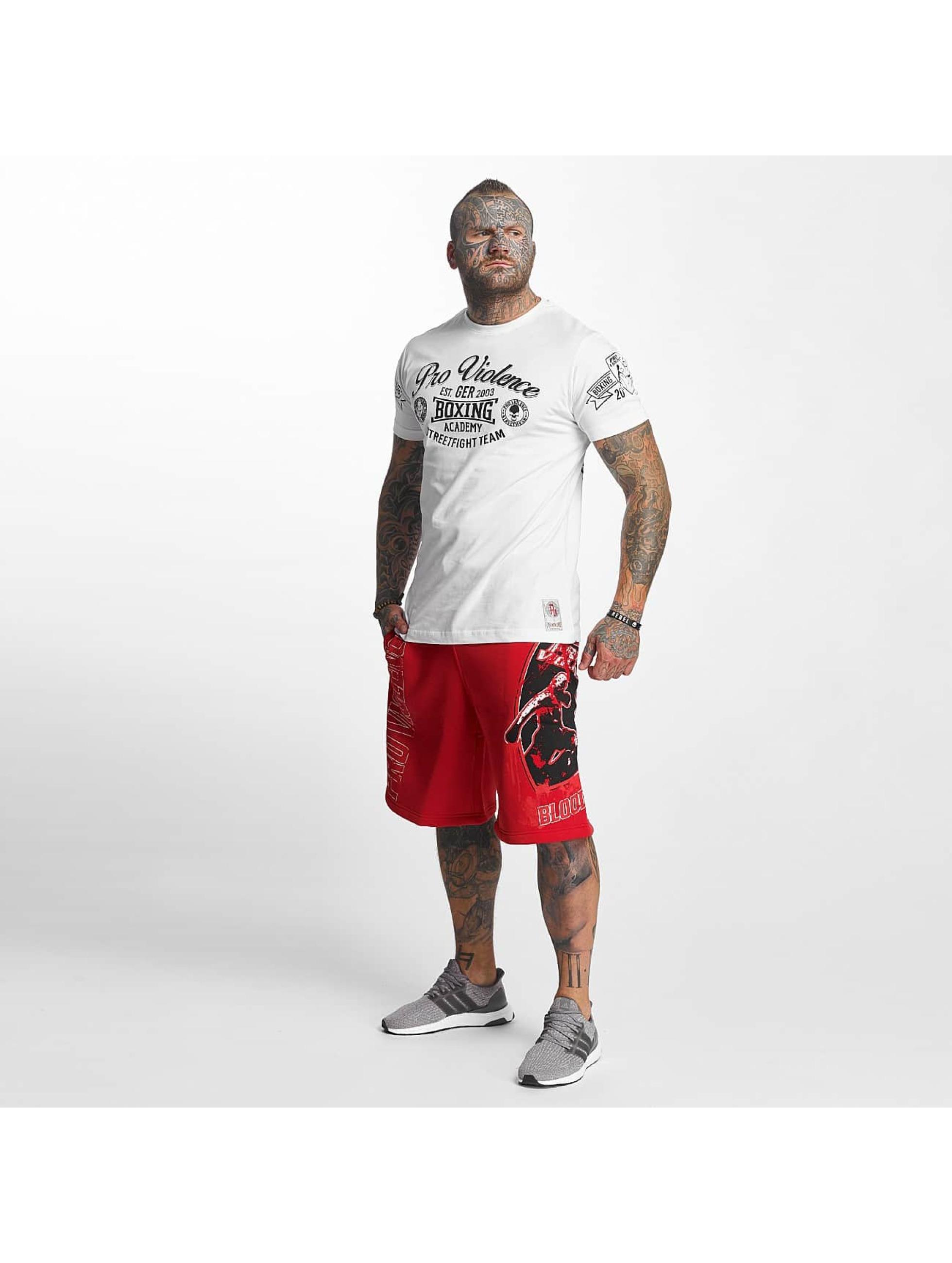 Pro Violence Streetwear T-Shirt Boxing Club weiß