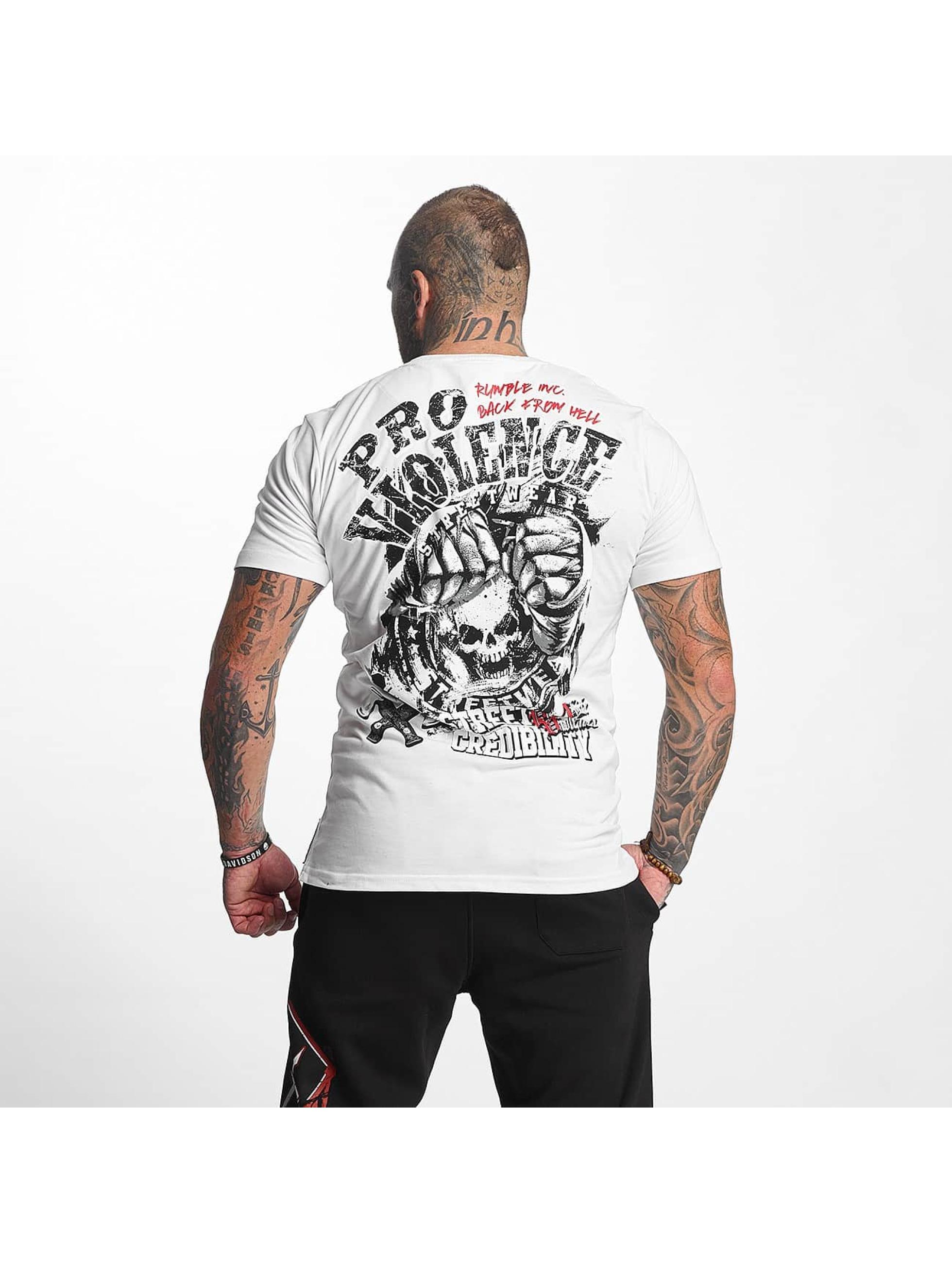 Pro Violence Streetwear T-Shirt Street Credibility weiß