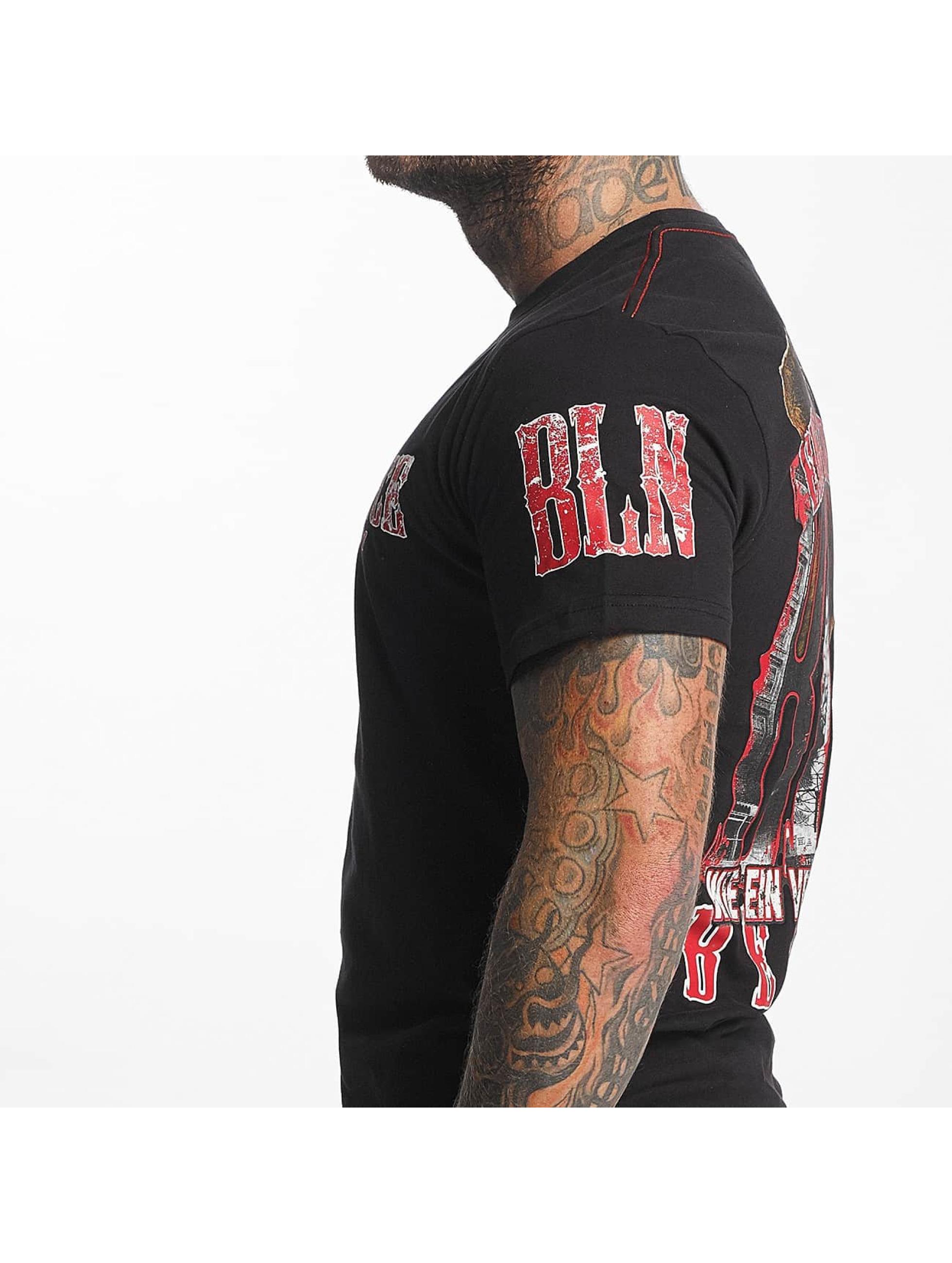 Pro Violence Streetwear t-shirt BLN City zwart