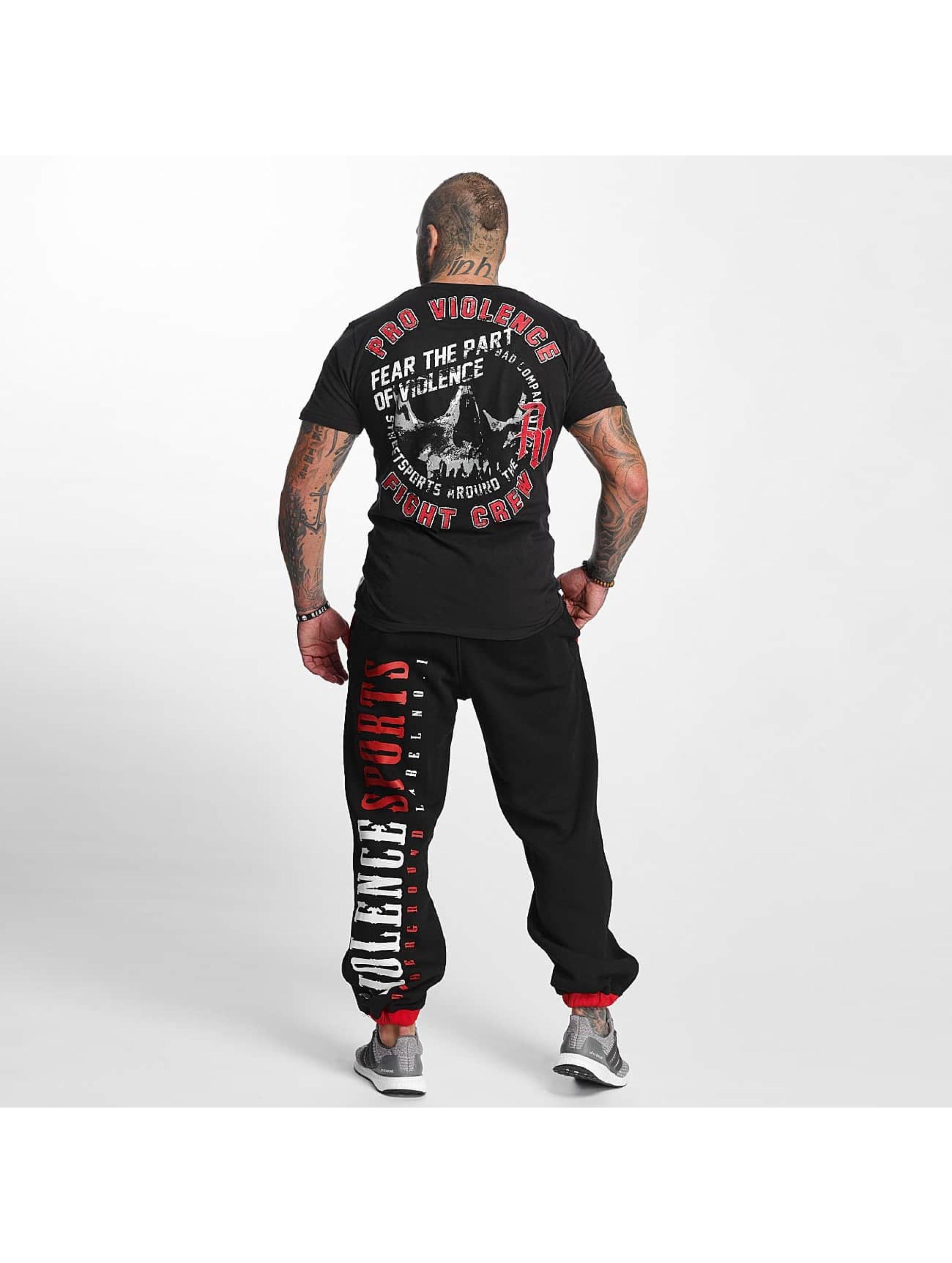 Pro Violence Streetwear t-shirt Streetwear Athletics zwart