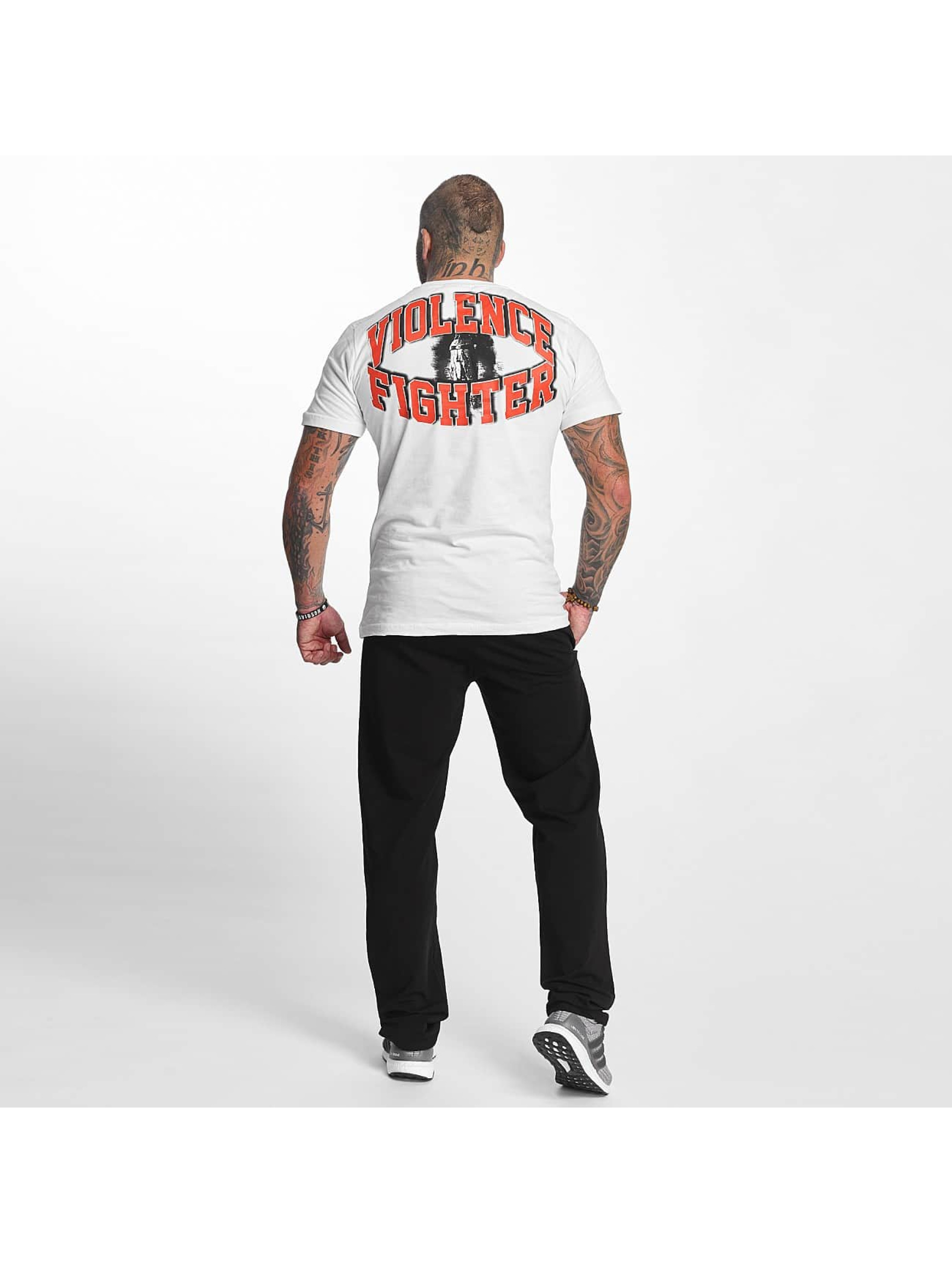 Pro Violence Streetwear T-Shirty Fighter bialy