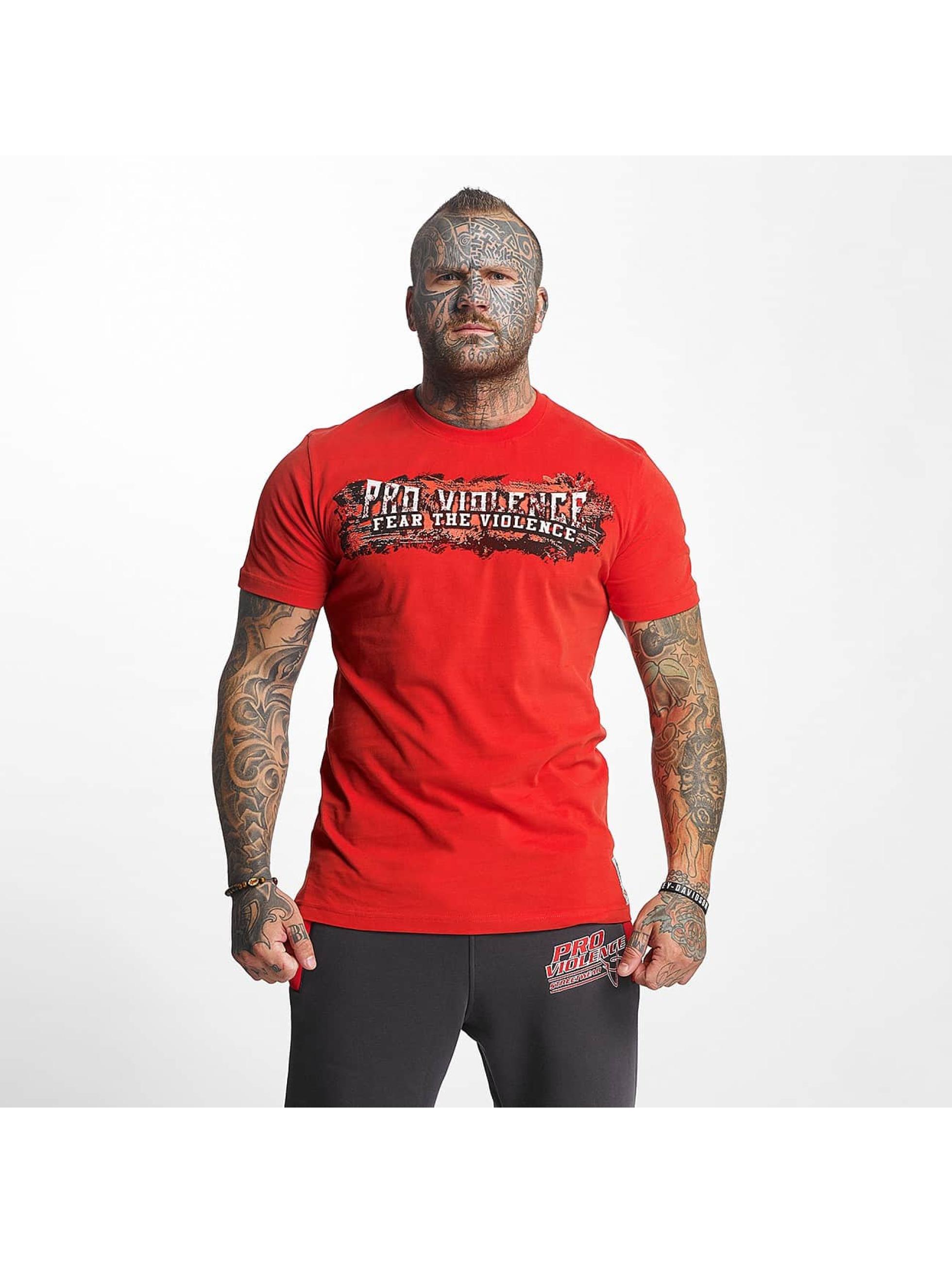 Pro Violence Streetwear T-Shirty The Violence Fear czerwony