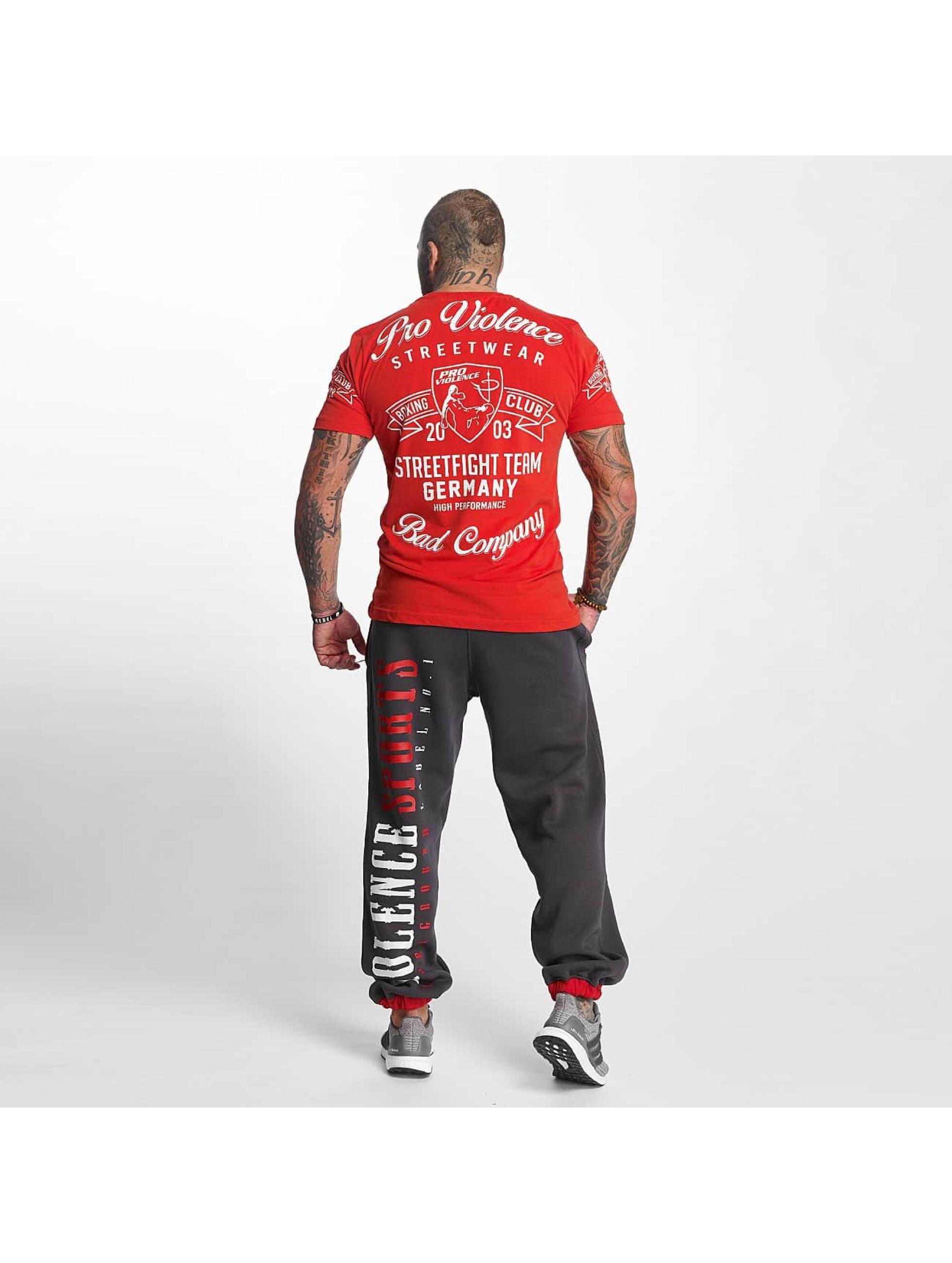 Pro Violence Streetwear T-Shirty Streetwear Boxing Club czerwony