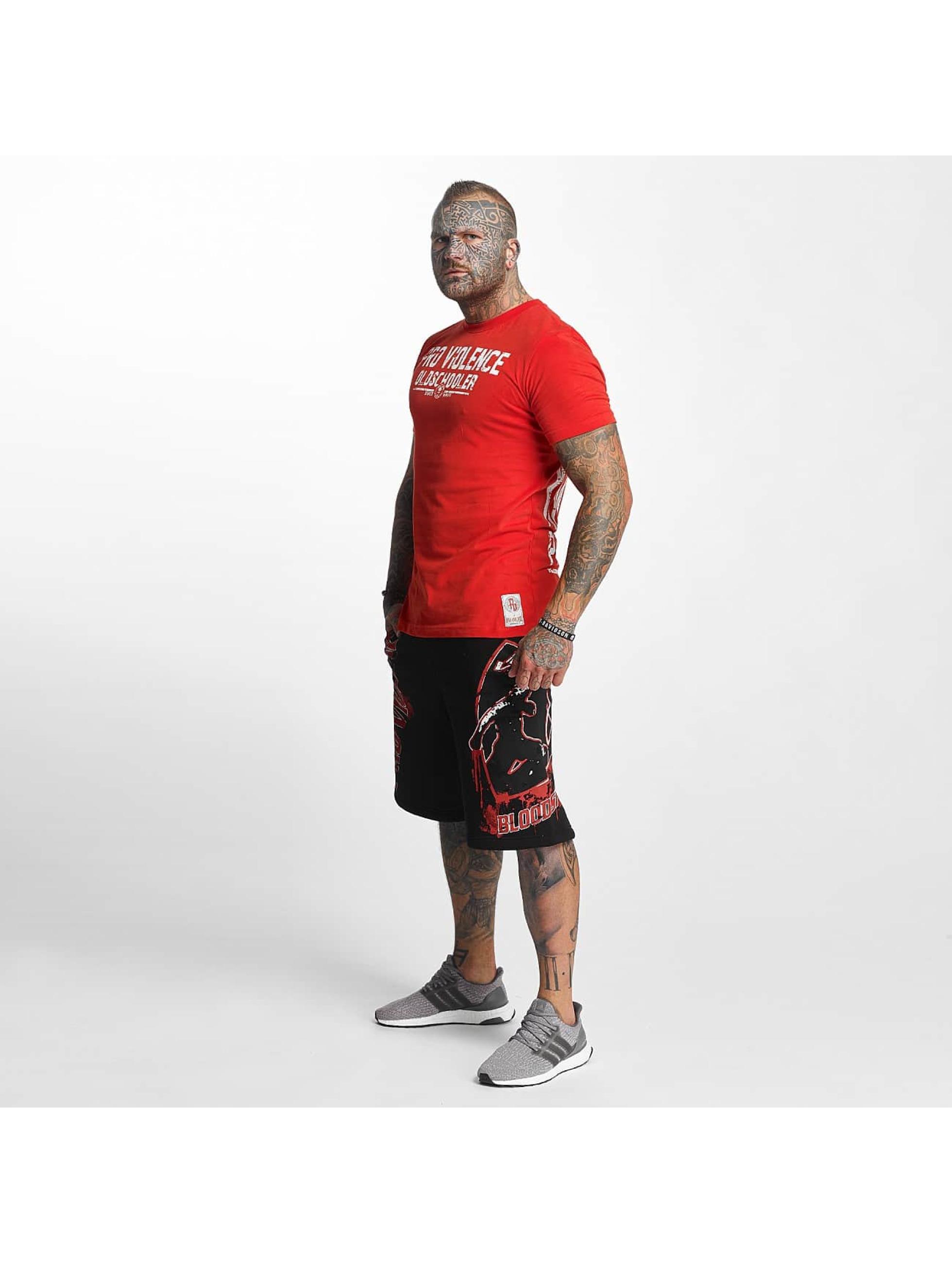 Pro Violence Streetwear T-Shirty Oldschool Hardknocker czerwony