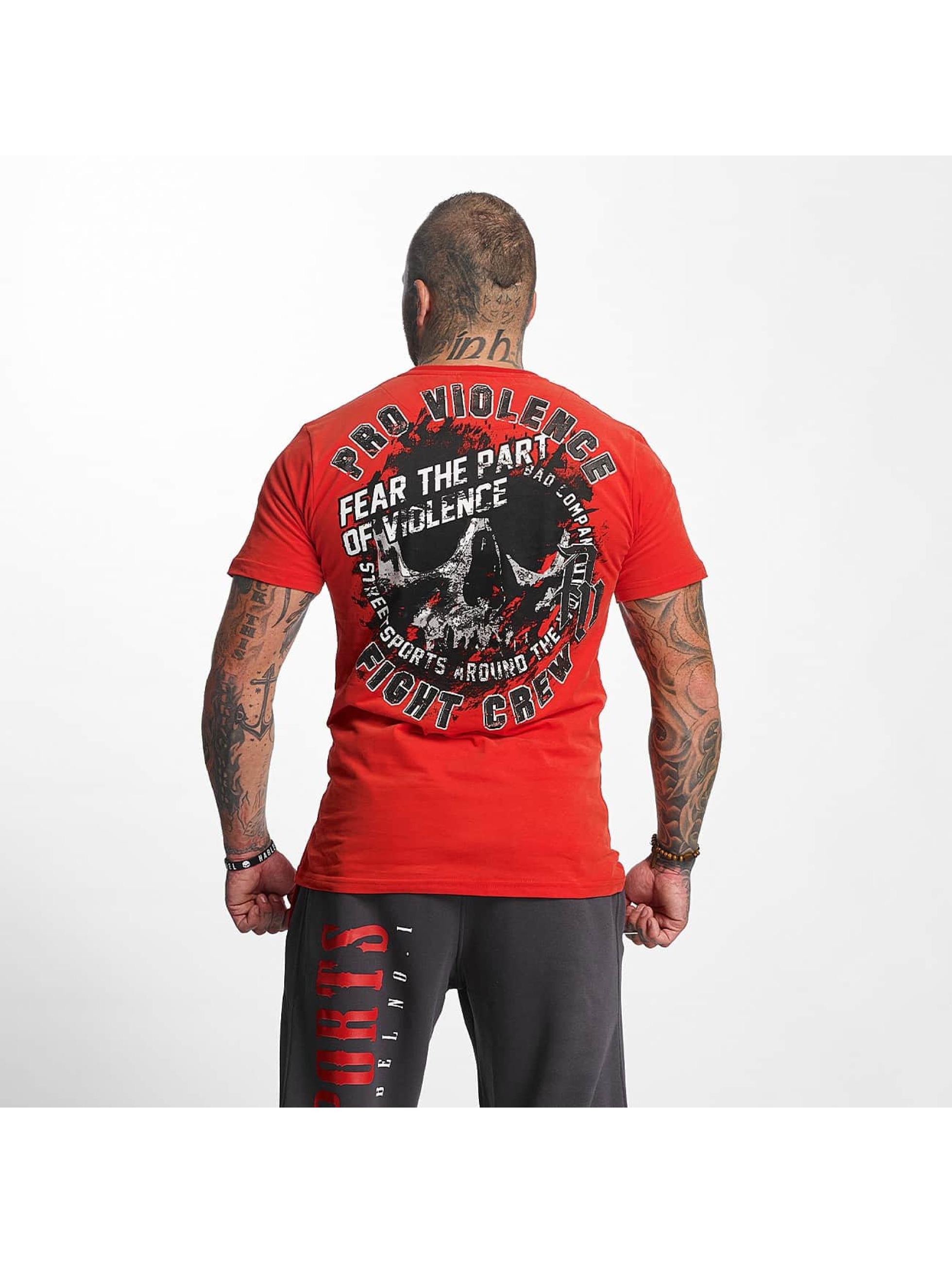 Pro Violence Streetwear T-Shirty Athletics czerwony