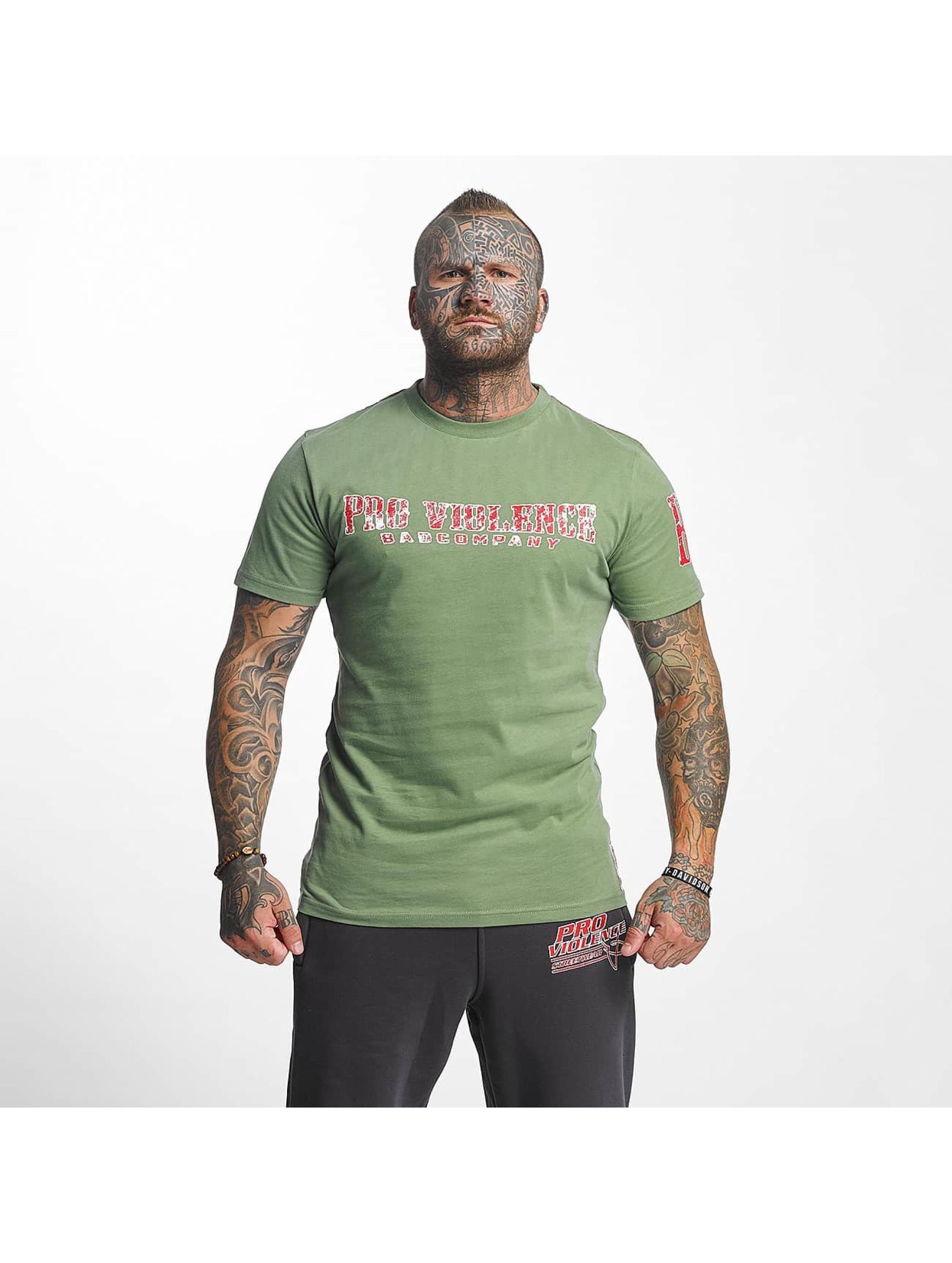 Pro Violence Streetwear T-Shirty BLN City oliwkowy