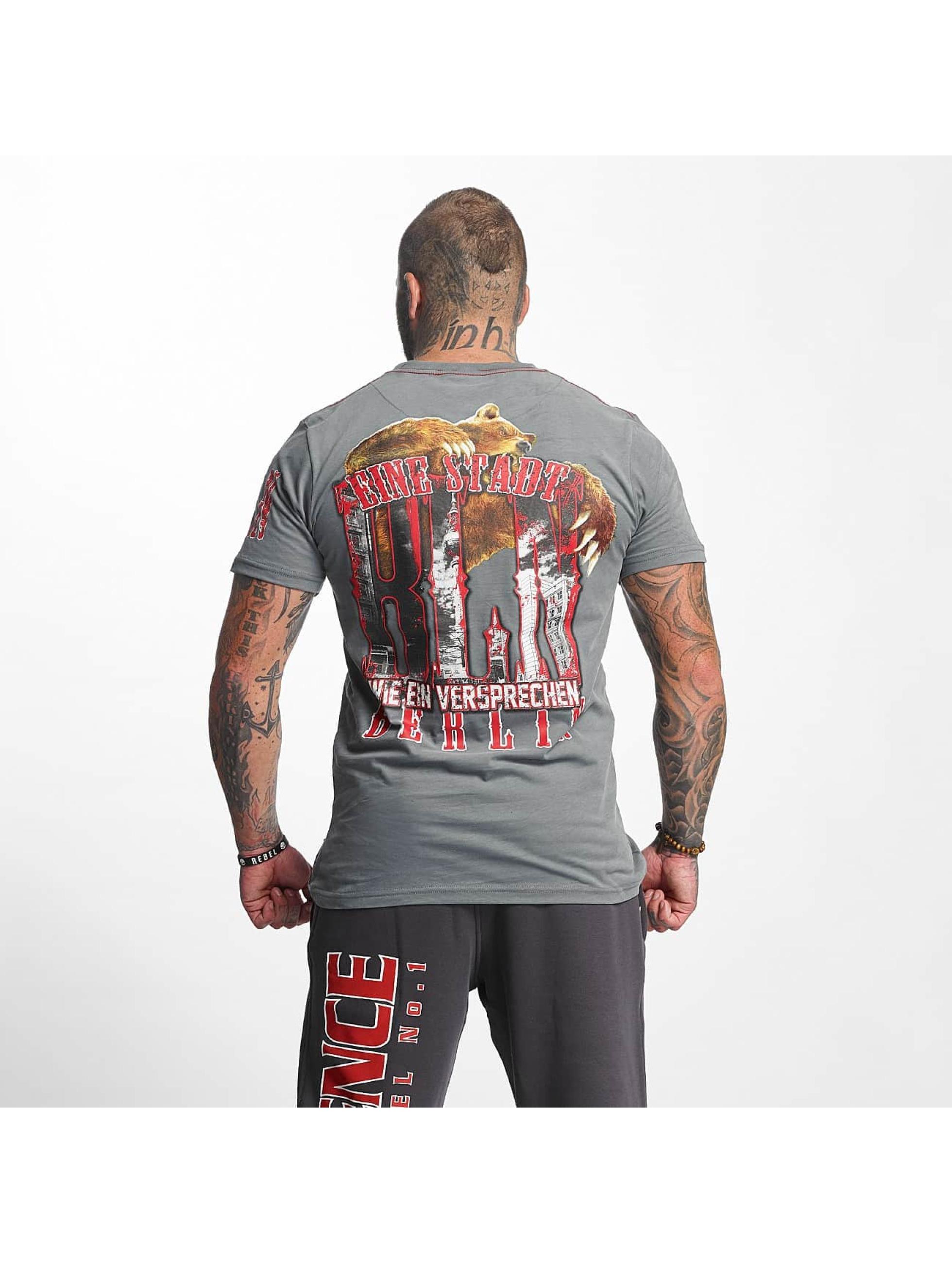 Pro Violence Streetwear T-skjorter BLN City grå