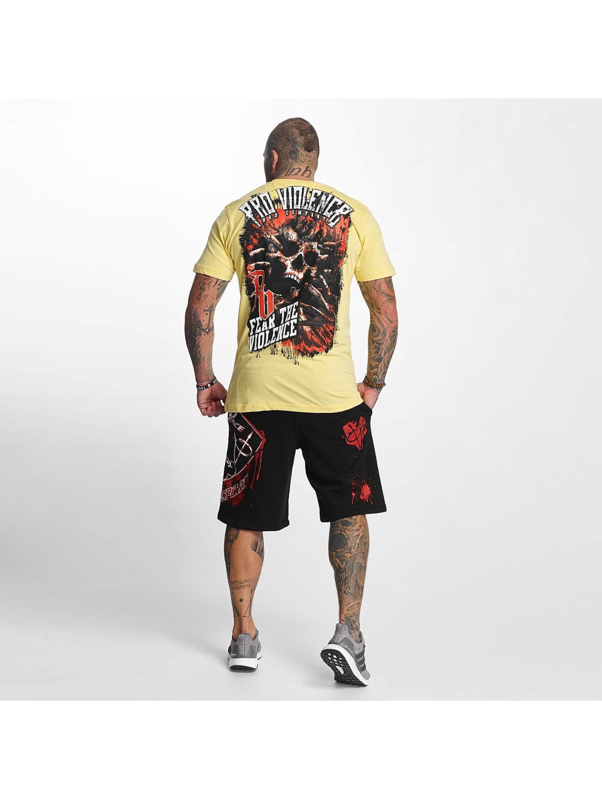 Pro Violence Streetwear T-skjorter The Violence Fear gul