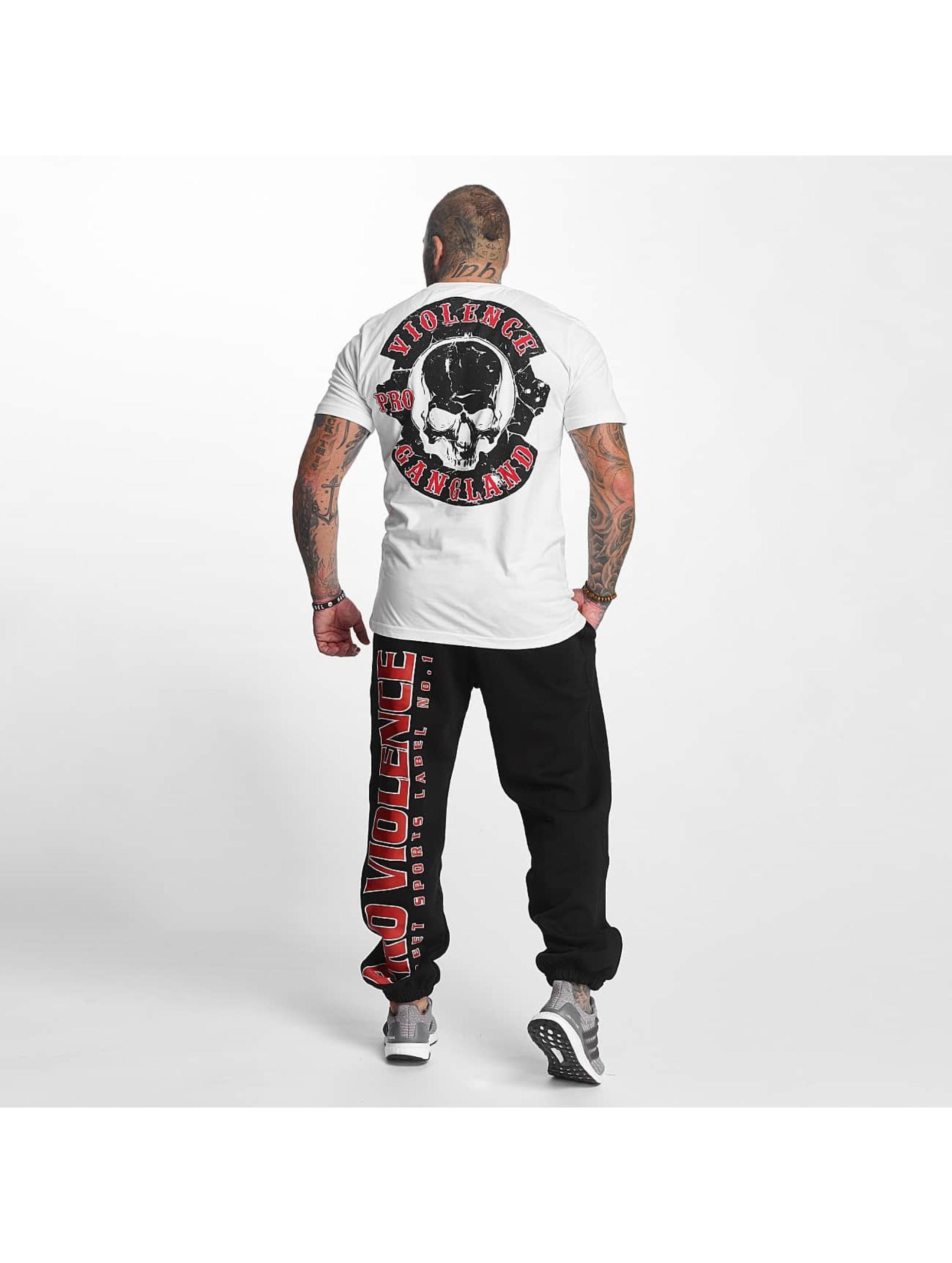 Pro Violence Streetwear T-skjorter Gangland hvit