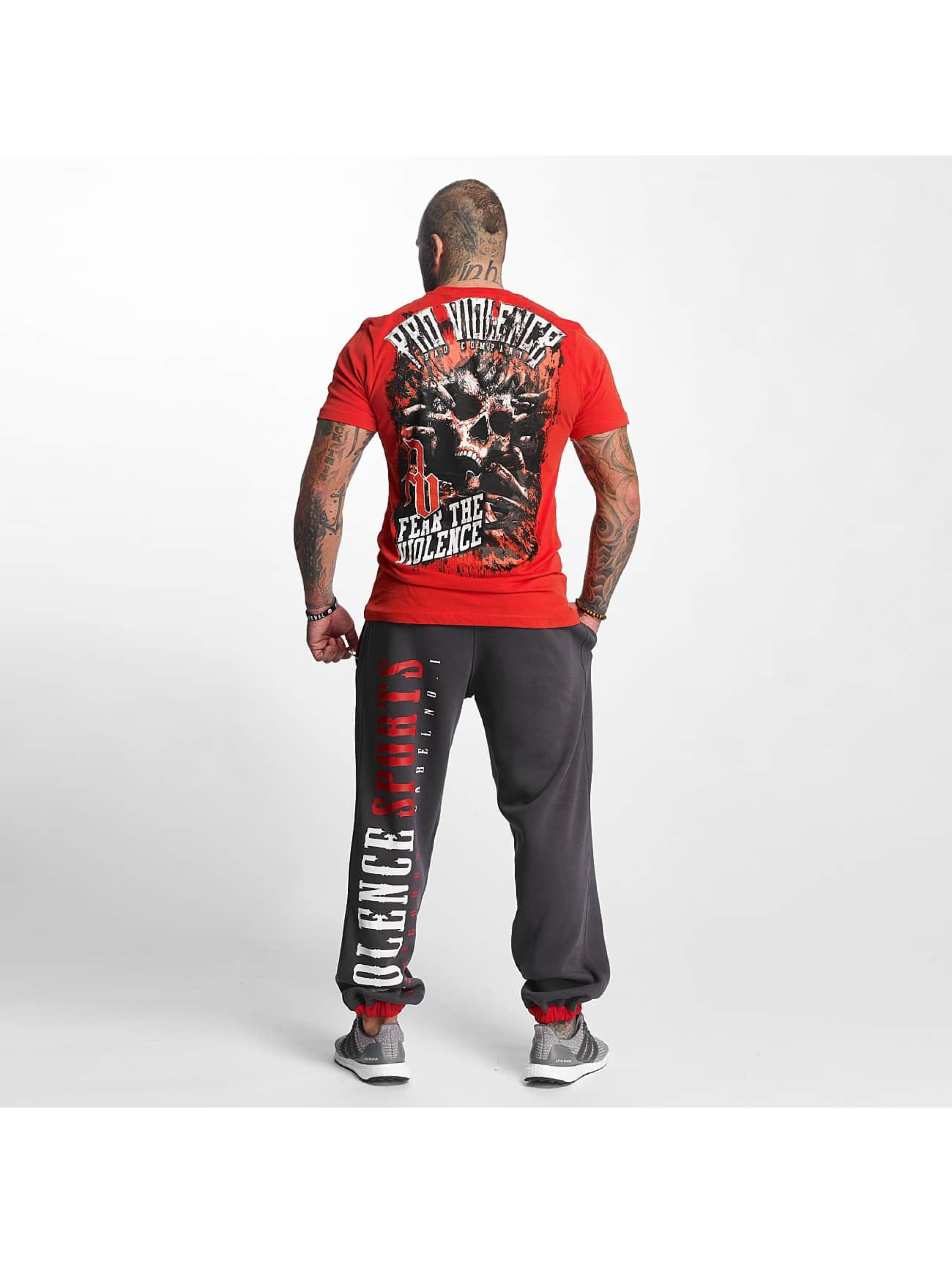 Pro Violence Streetwear T-skjorter The Violence Fear red