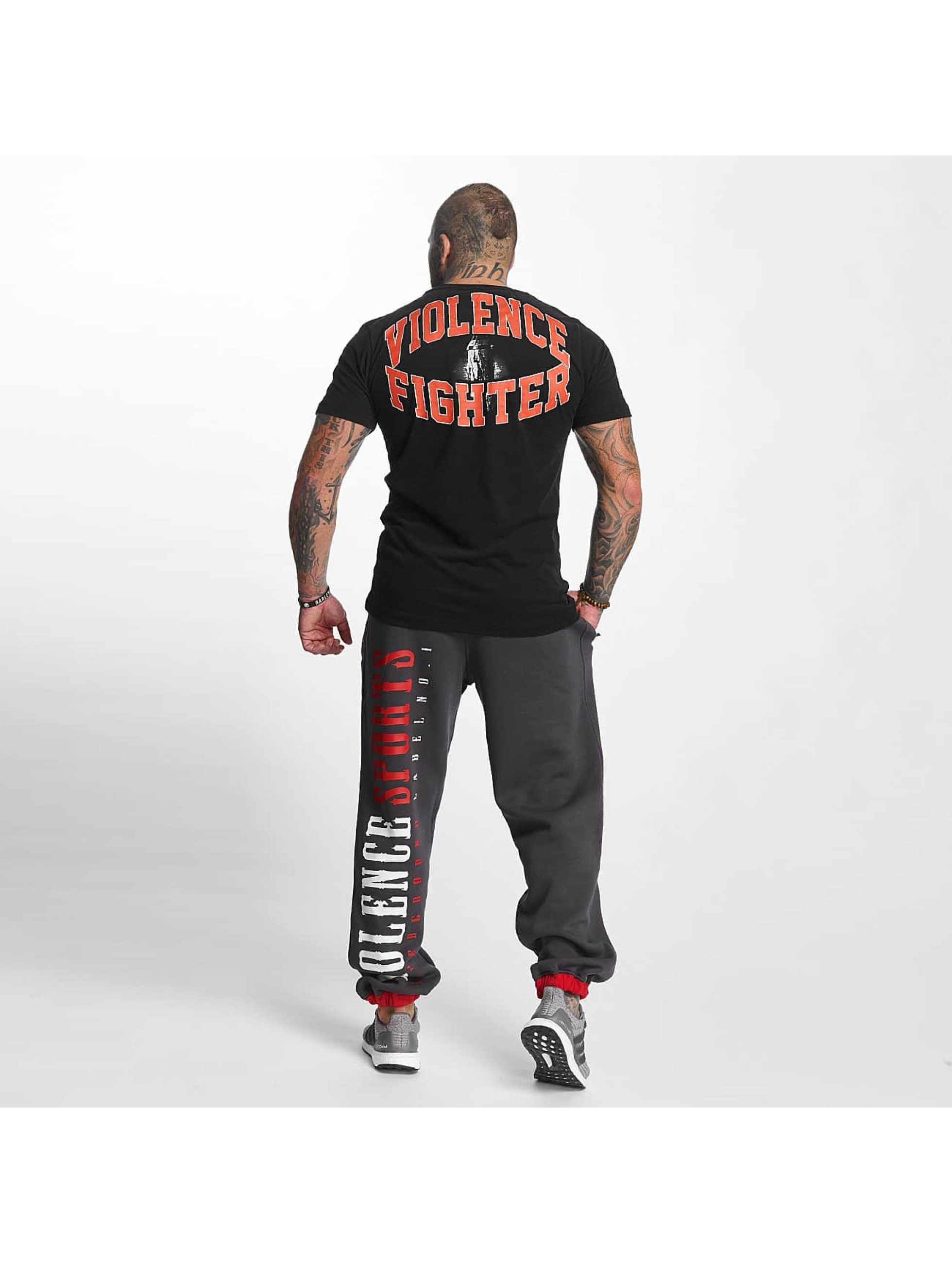 Pro Violence Streetwear T-skjorter Fighter svart