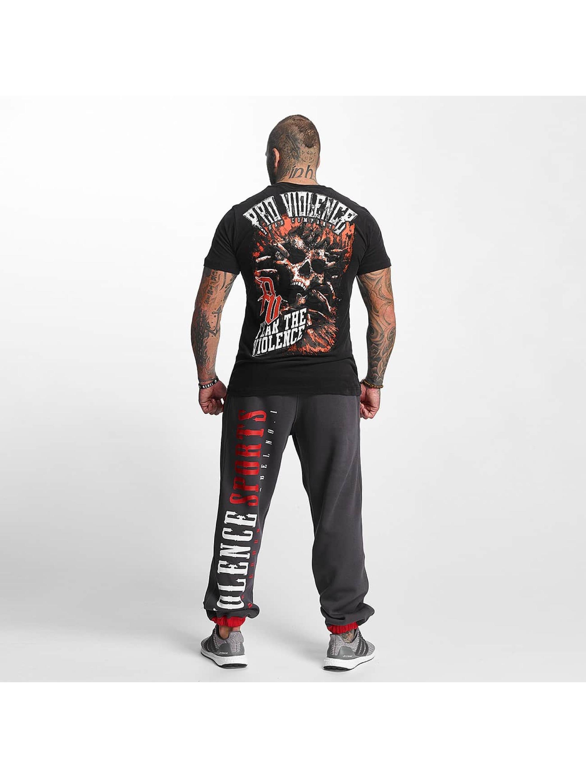 Pro Violence Streetwear T-skjorter The Violence Fear svart