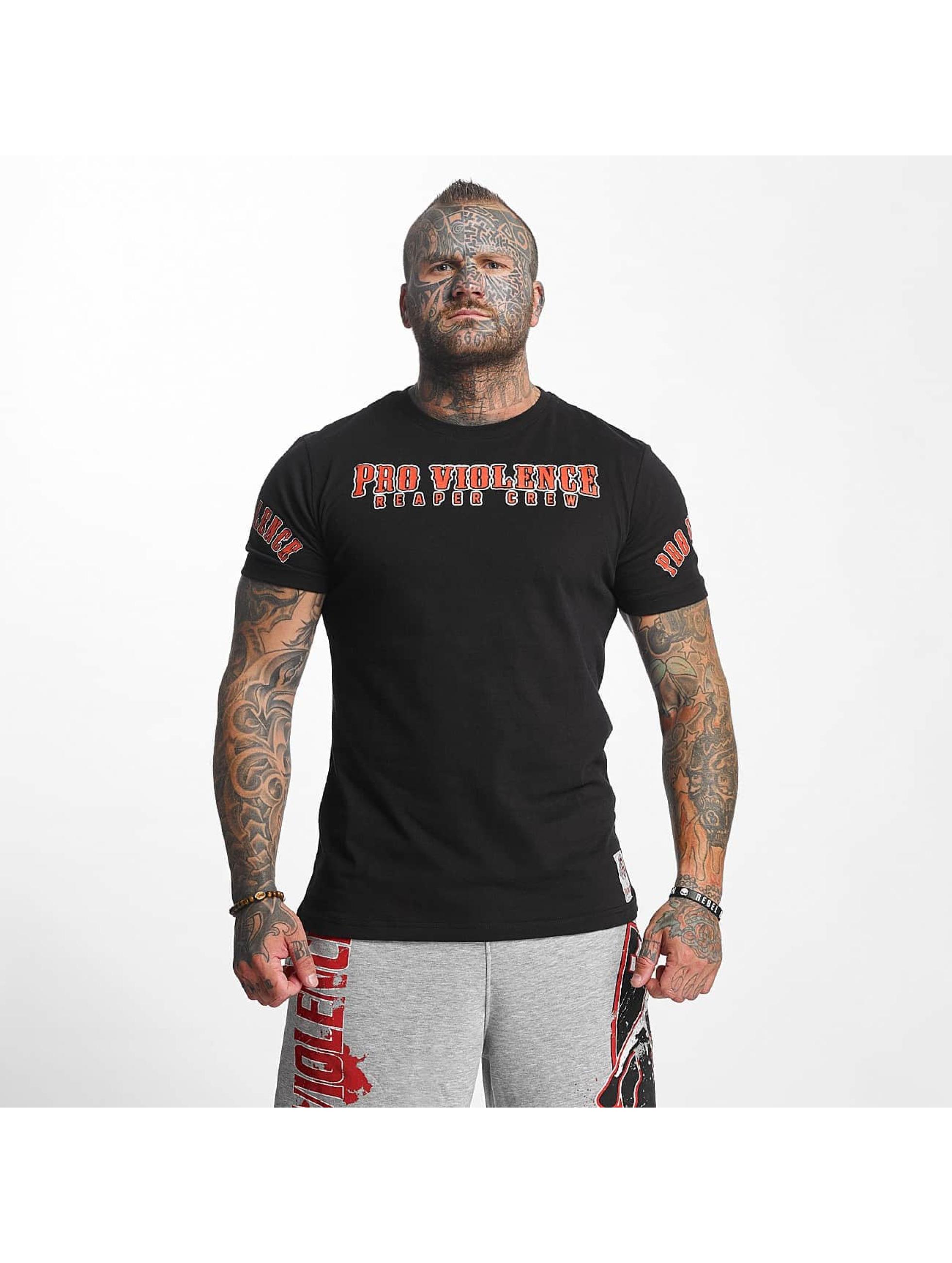 Pro Violence Streetwear T-skjorter Reaper svart