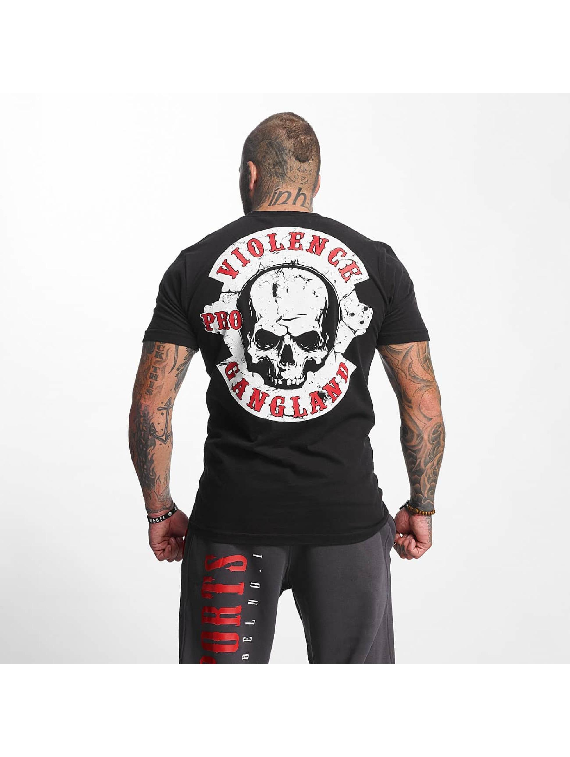 Pro Violence Streetwear T-skjorter Gangland svart