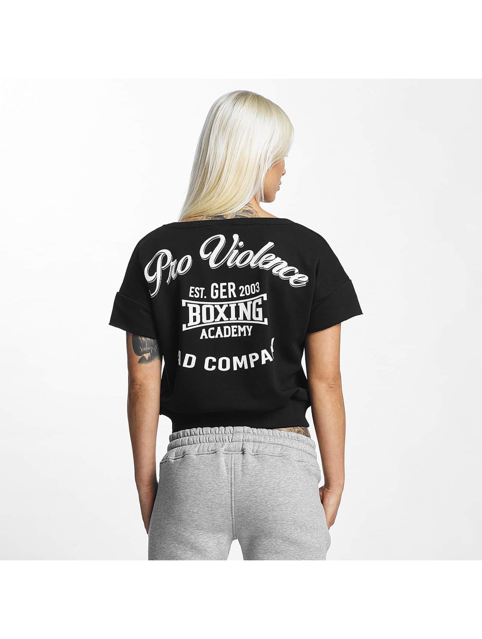 Pro Violence Streetwear T-skjorter Boxing svart