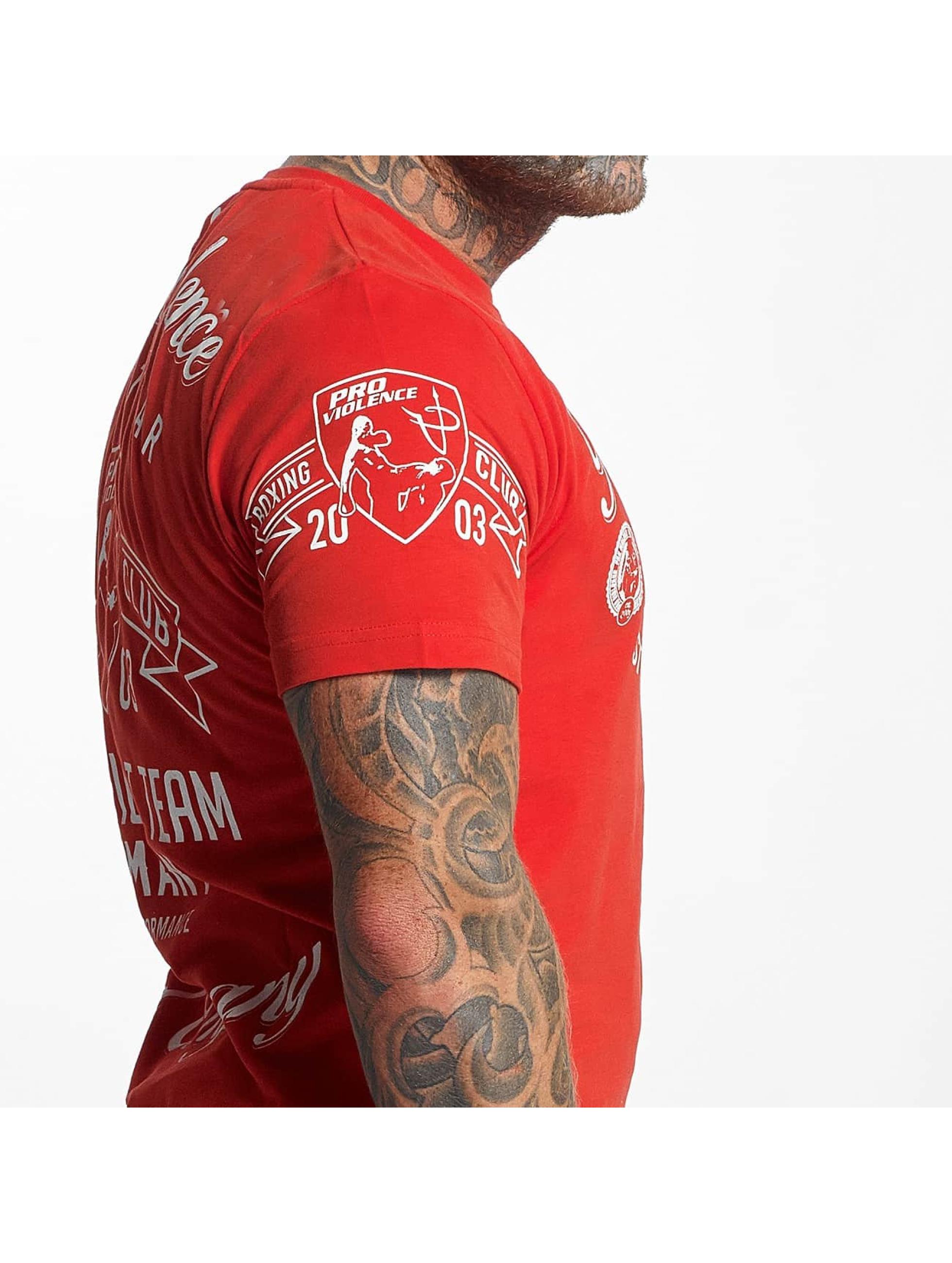 Pro Violence Streetwear Tričká Streetwear Boxing Club èervená