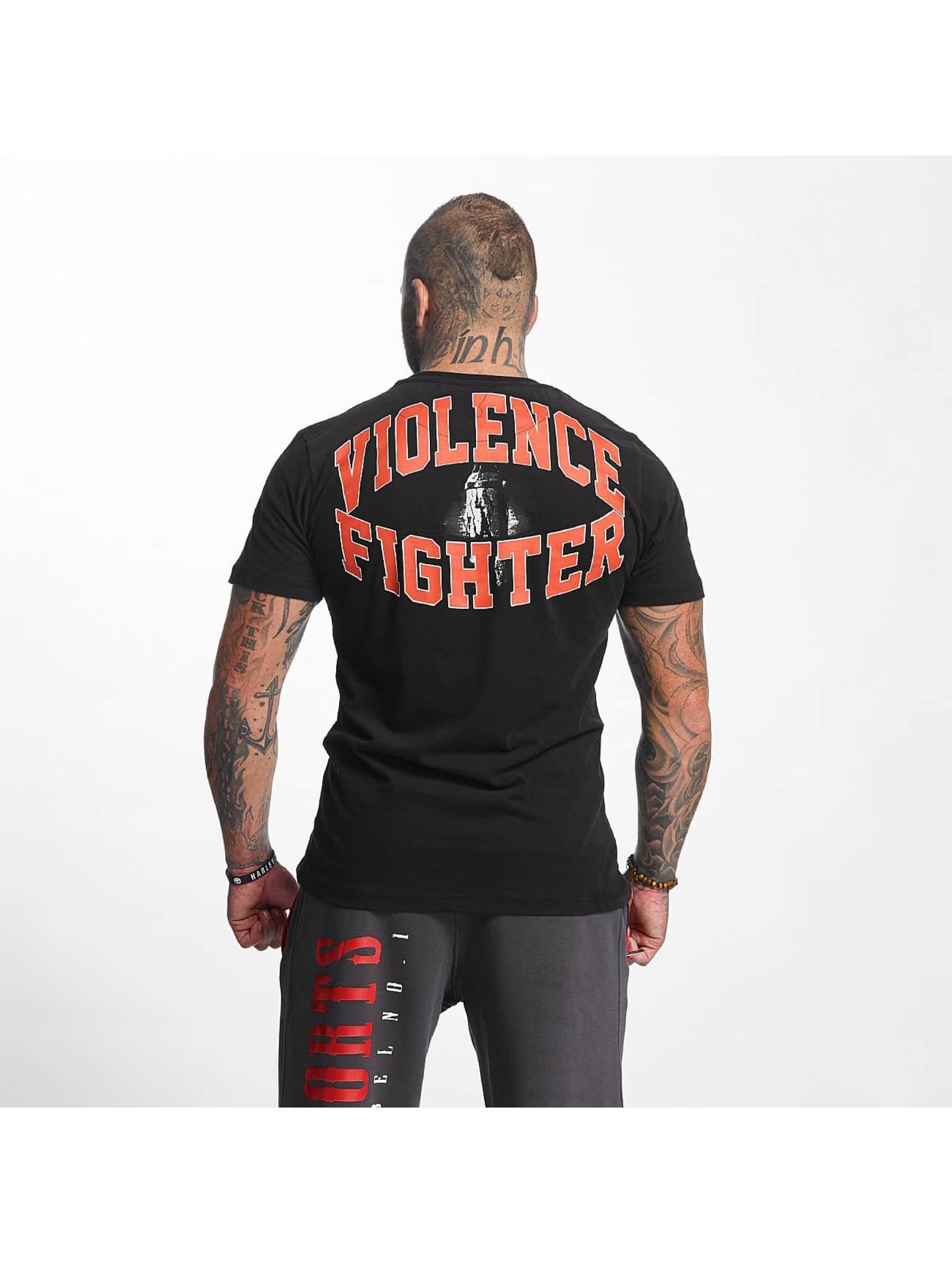 Pro Violence Streetwear Tričká Fighter èierna