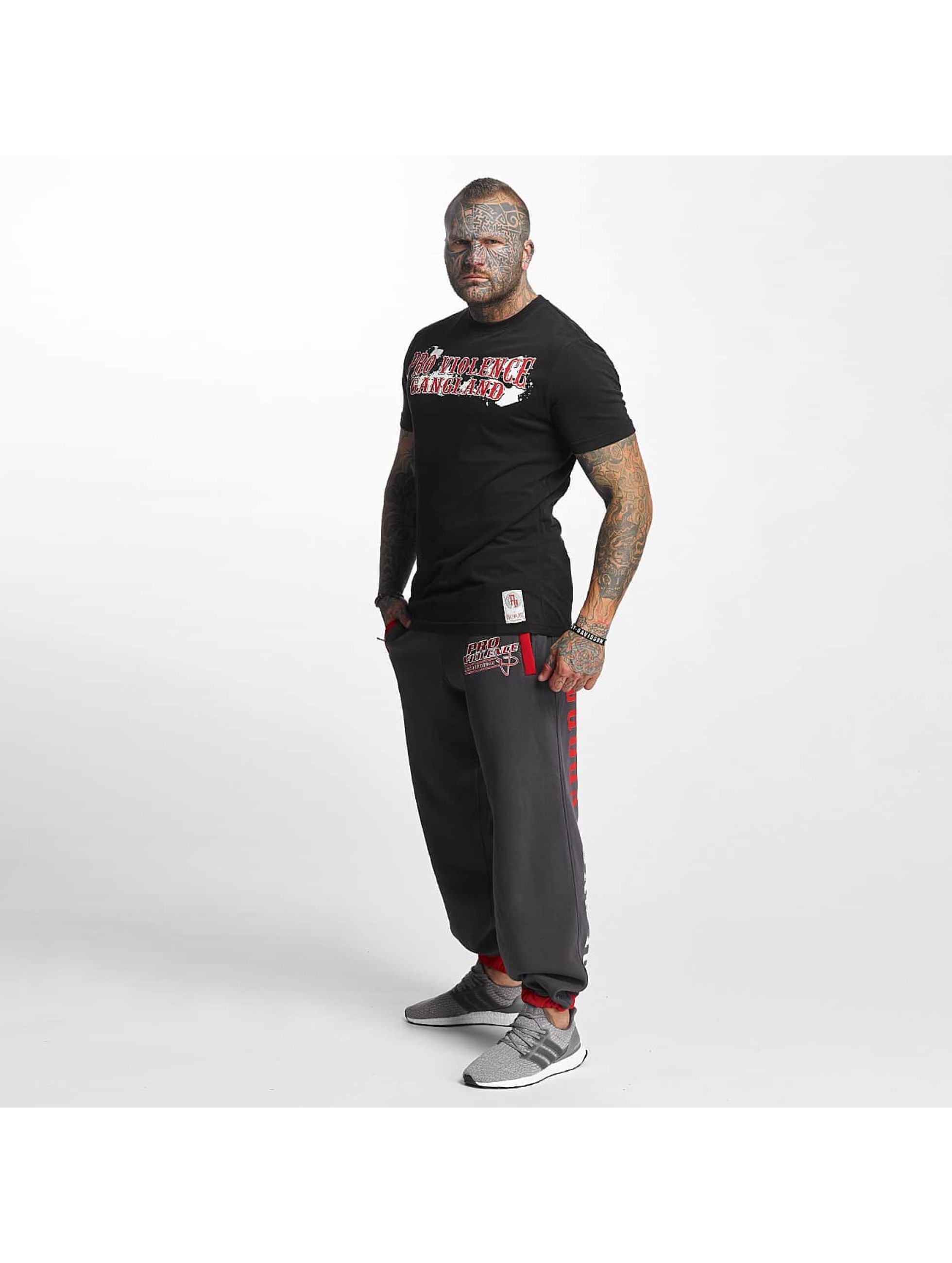 Pro Violence Streetwear Tričká Gangland èierna