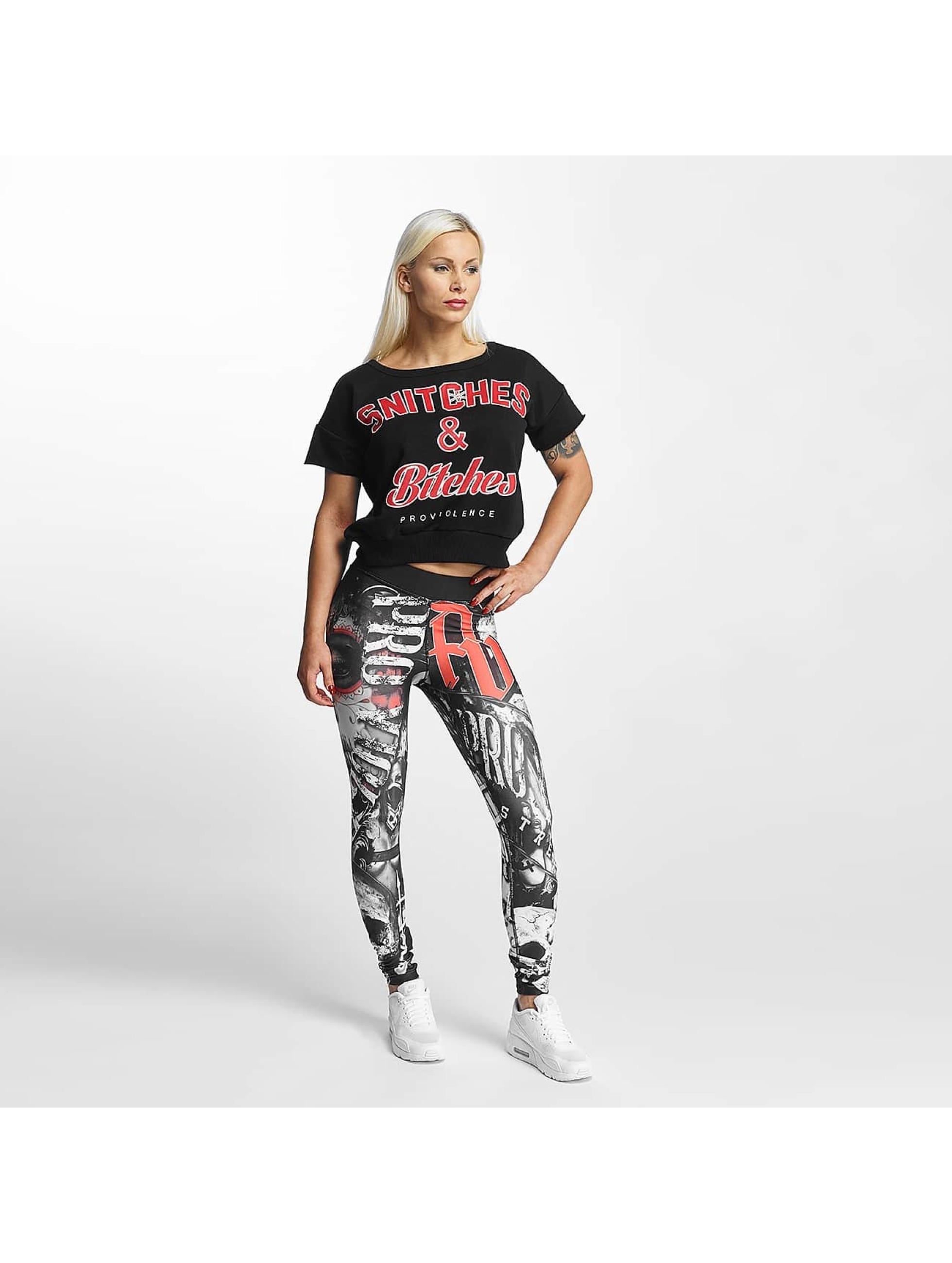 Pro Violence Streetwear Tričká Snitches & Bitches èierna