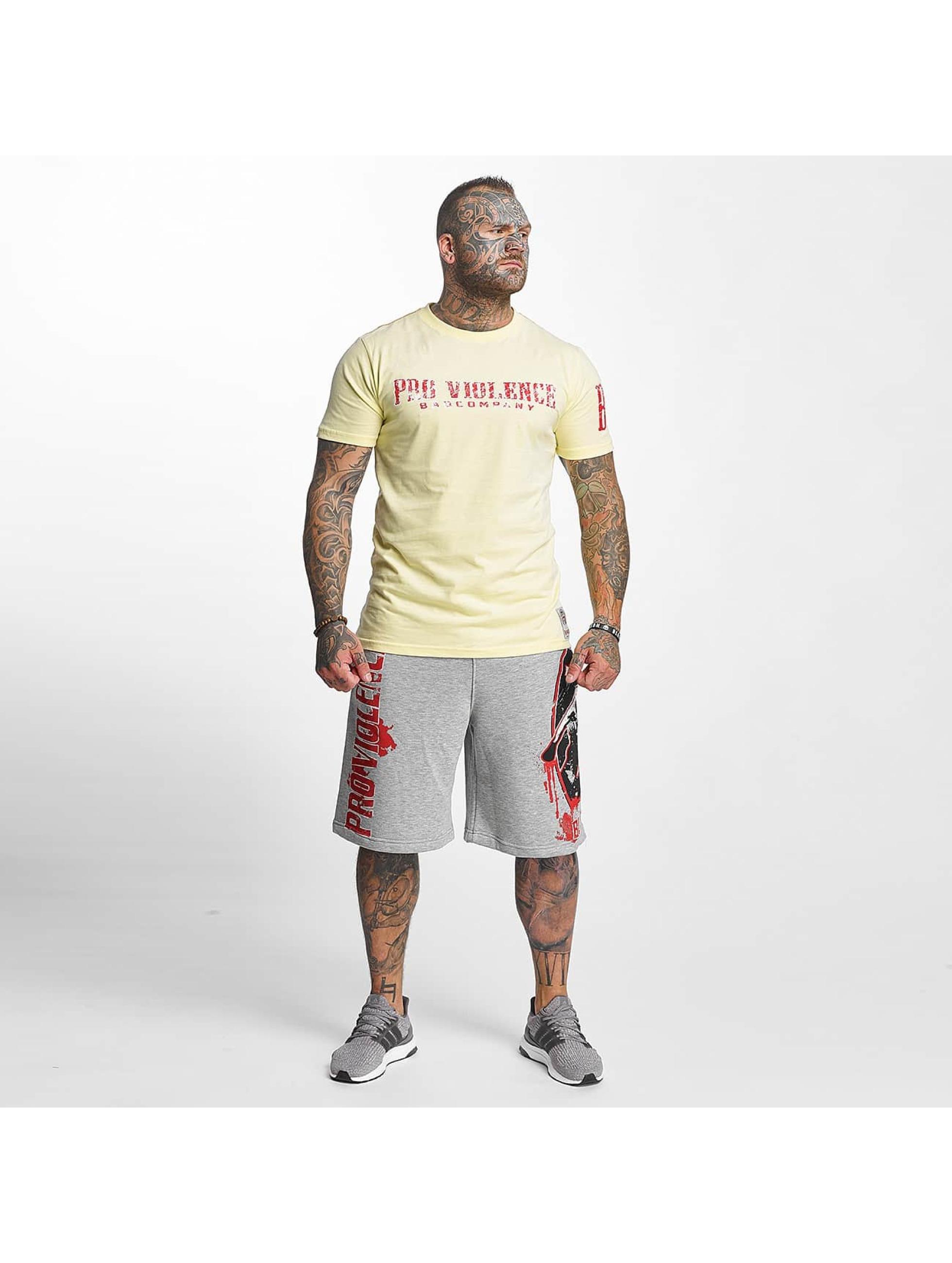 Pro Violence Streetwear Tričká BLN City žltá