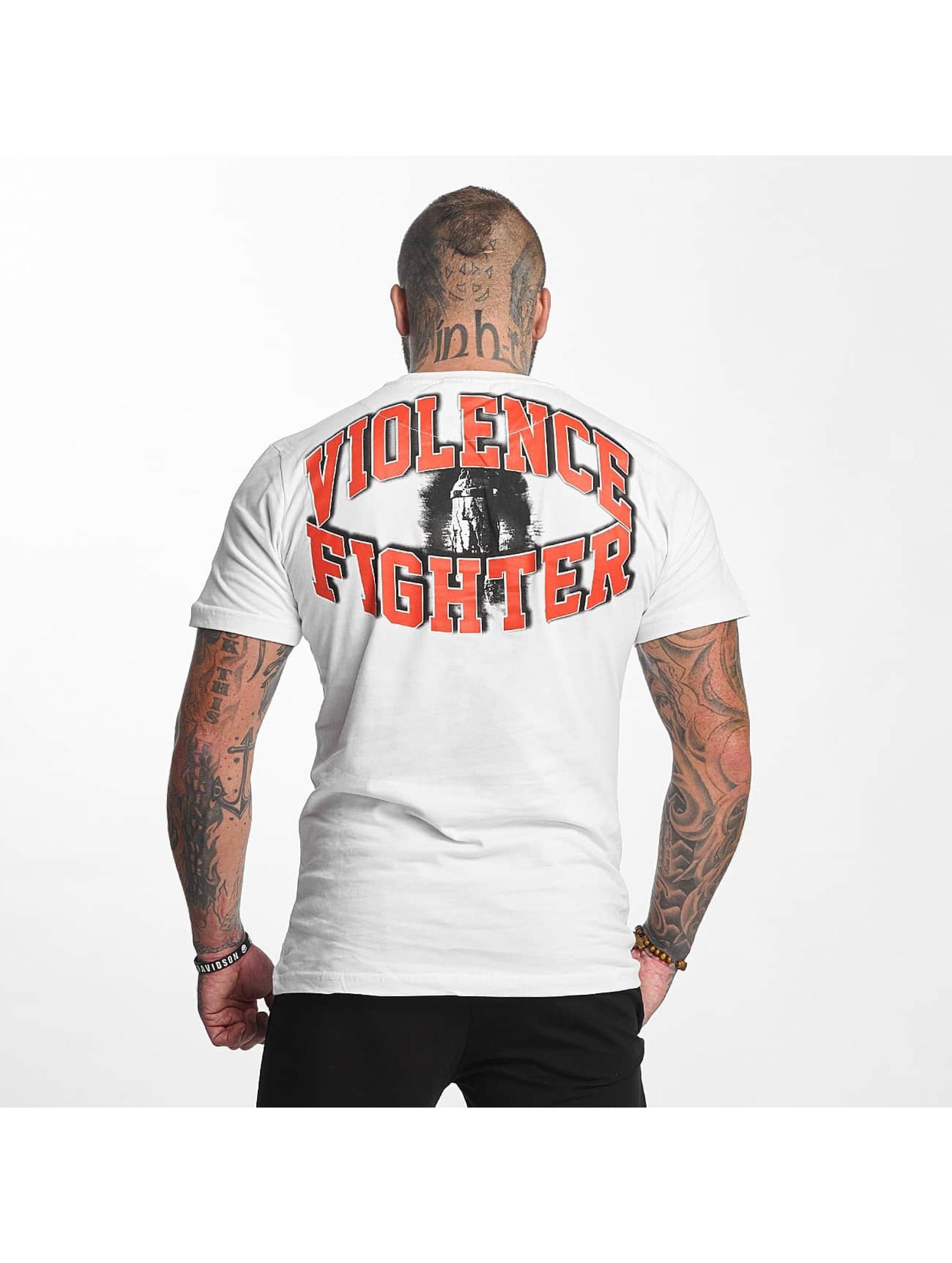 Pro Violence Streetwear Tričká Fighter biela