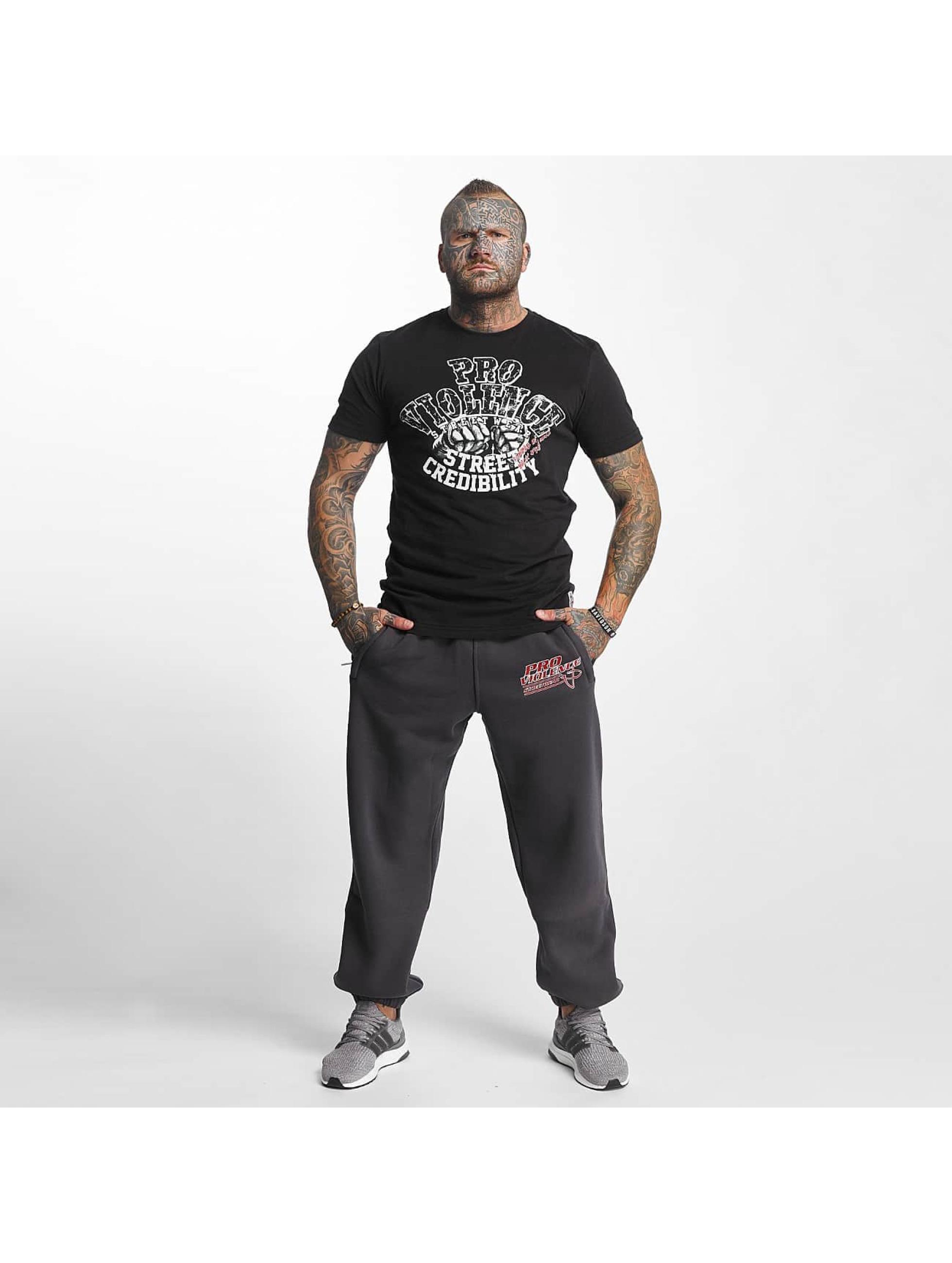 Pro Violence Streetwear Verryttelyhousut Label No. 1 harmaa