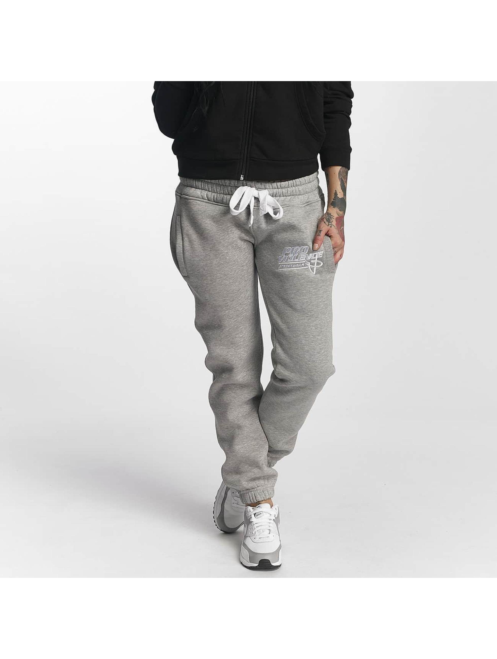 Pro Violence Streetwear Verryttelyhousut Basic harmaa