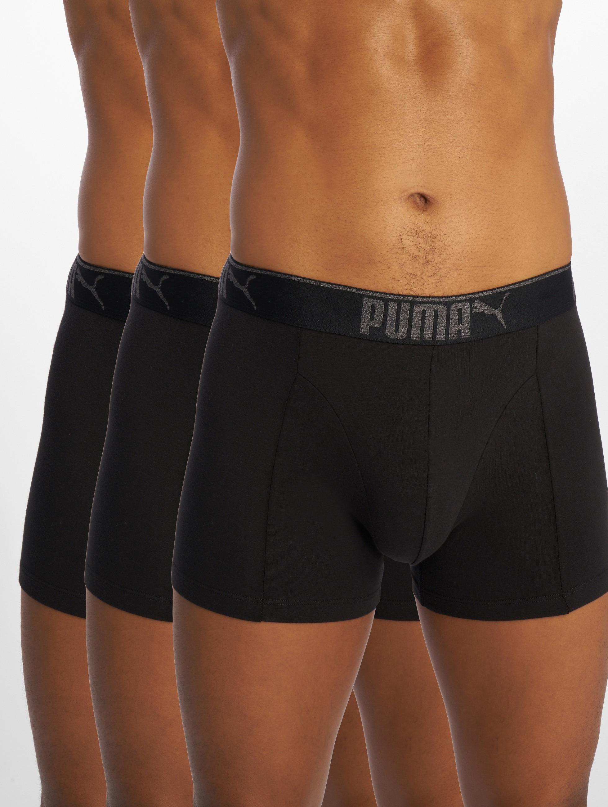 Puma Lifestyle Sueded Cotton 3 Pack Boxershorts Black