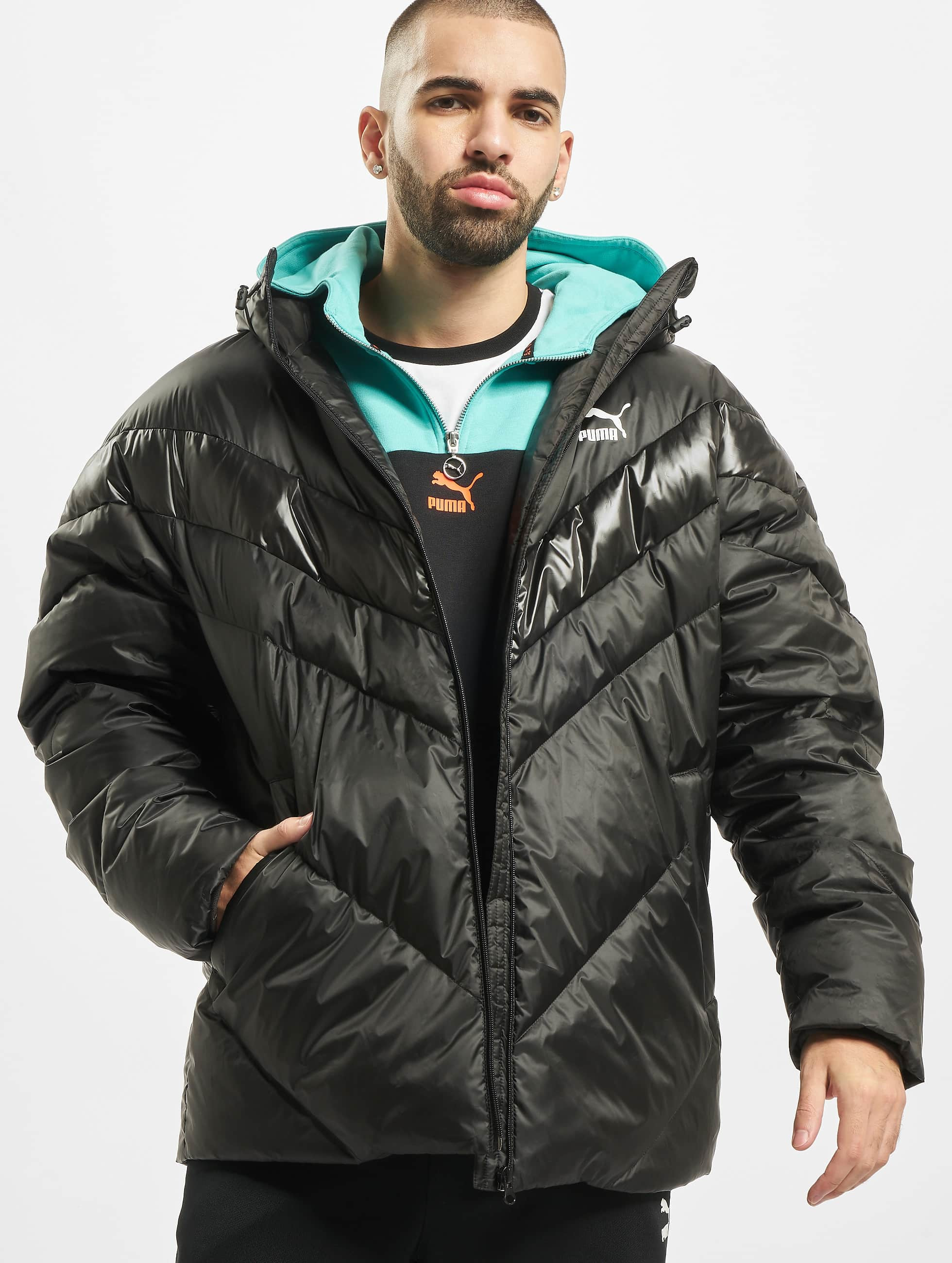 Puma MCS Shiny Puffer Down Jacket Puma Black