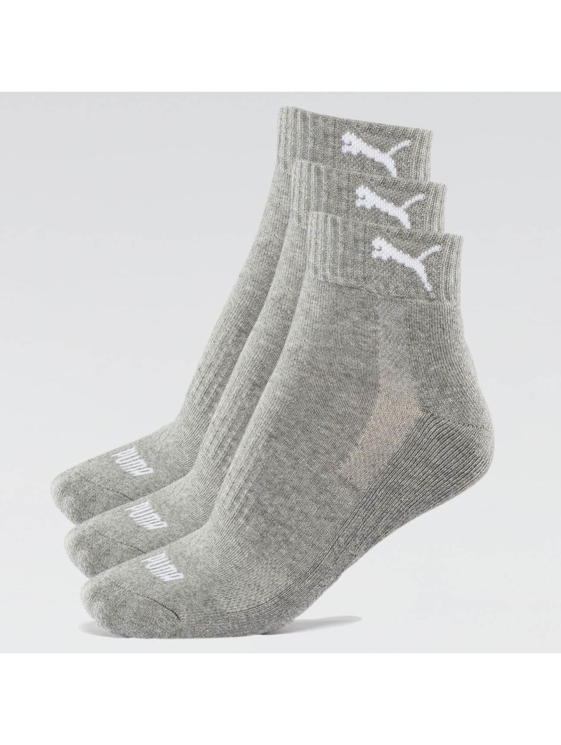 Puma Sokken 2-Pack Cushioned Quarters grijs