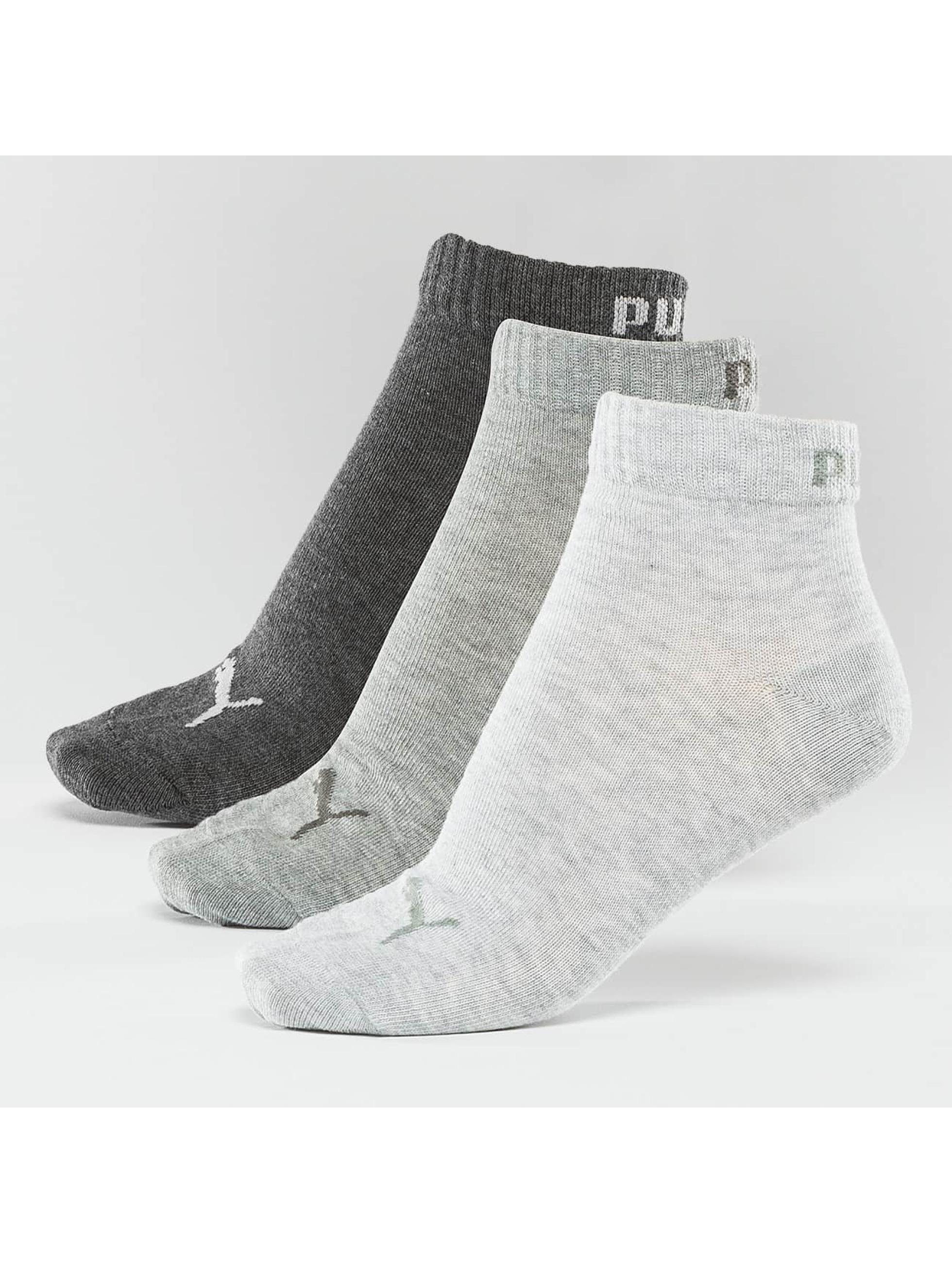 Puma Sokken 3-Pack Quarters grijs