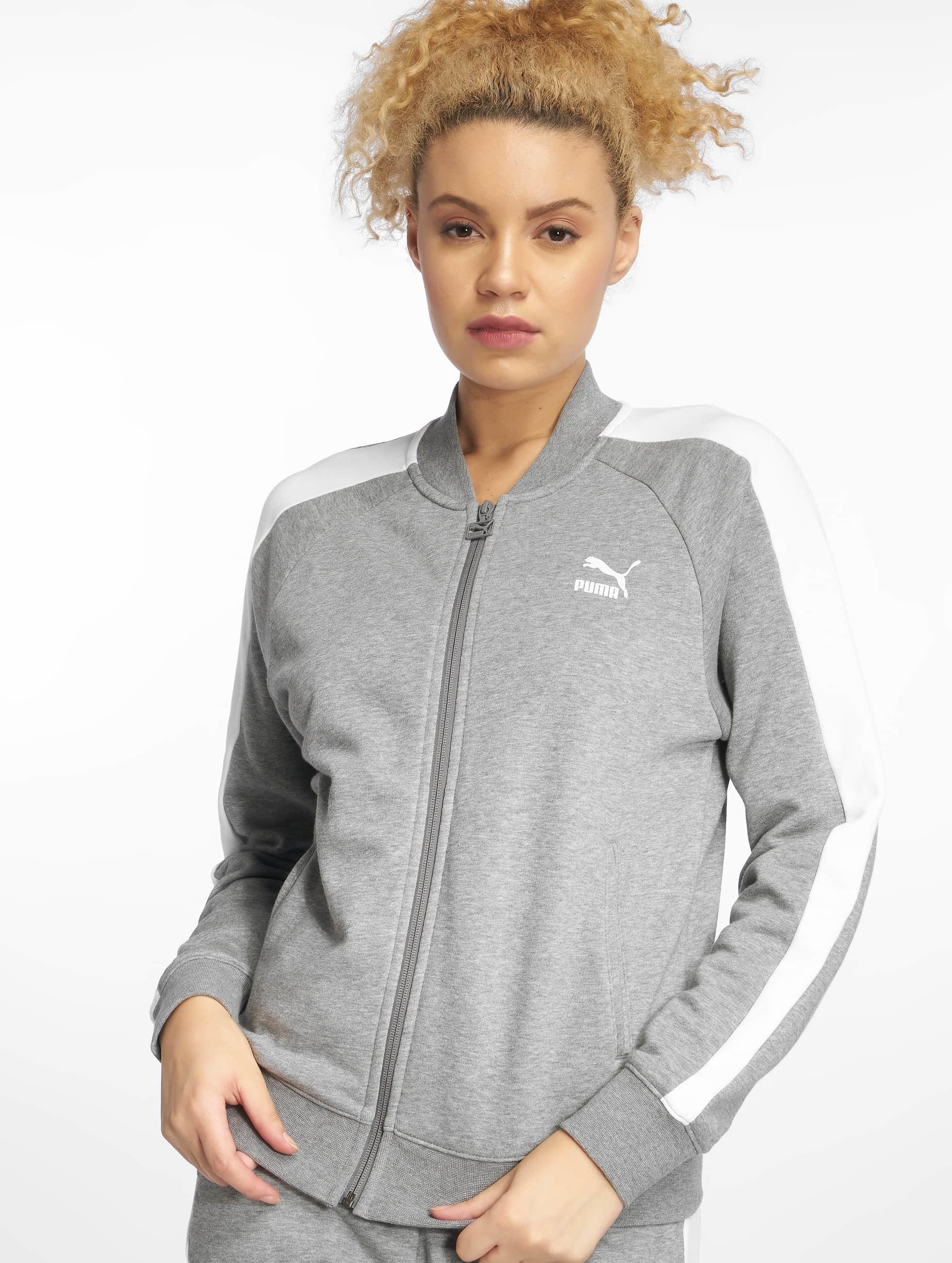 Puma Classics T7 Track Jacket Medium Gray Heather
