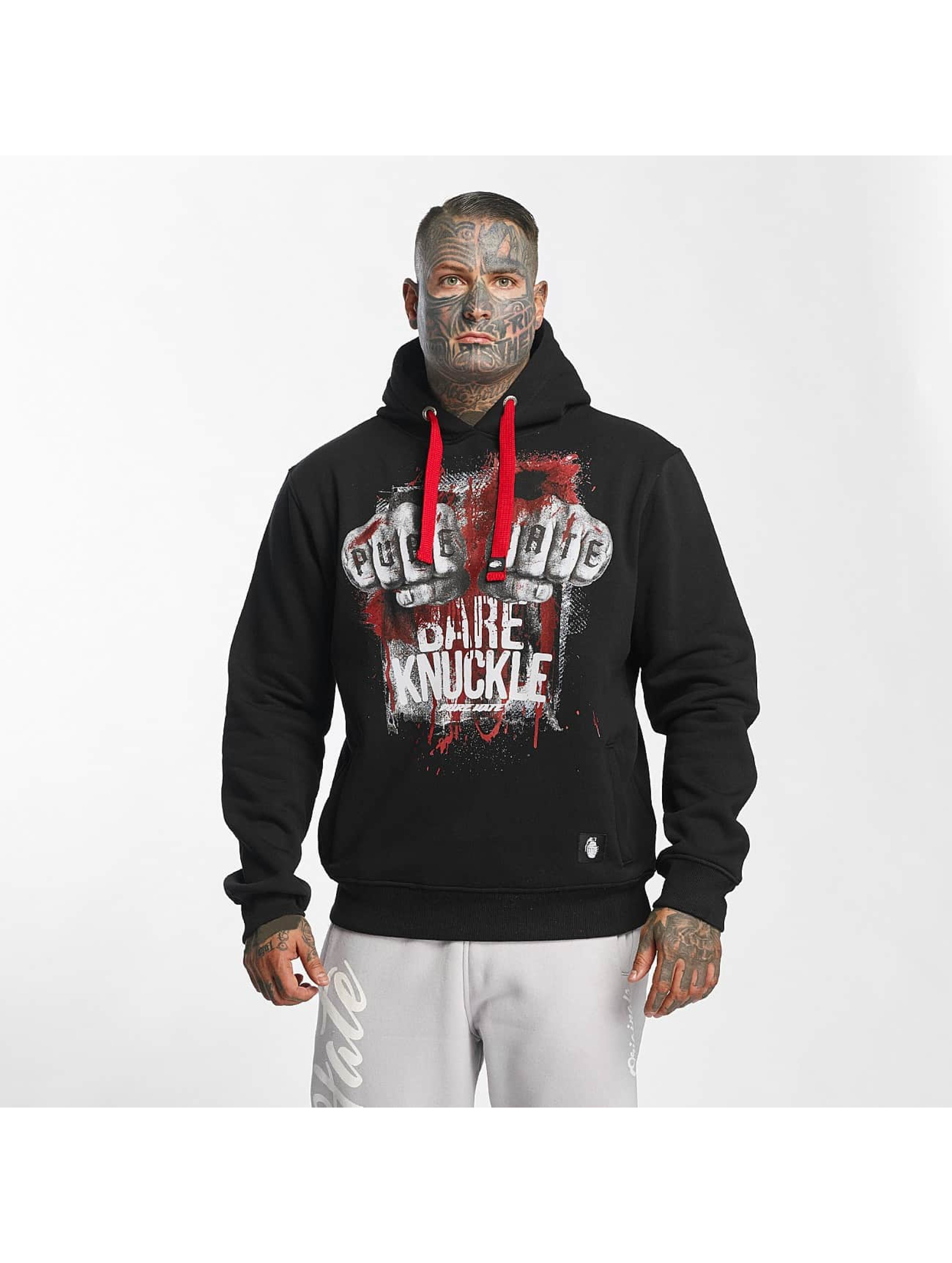 Pure Hate Hoodie Bare Knuckle black
