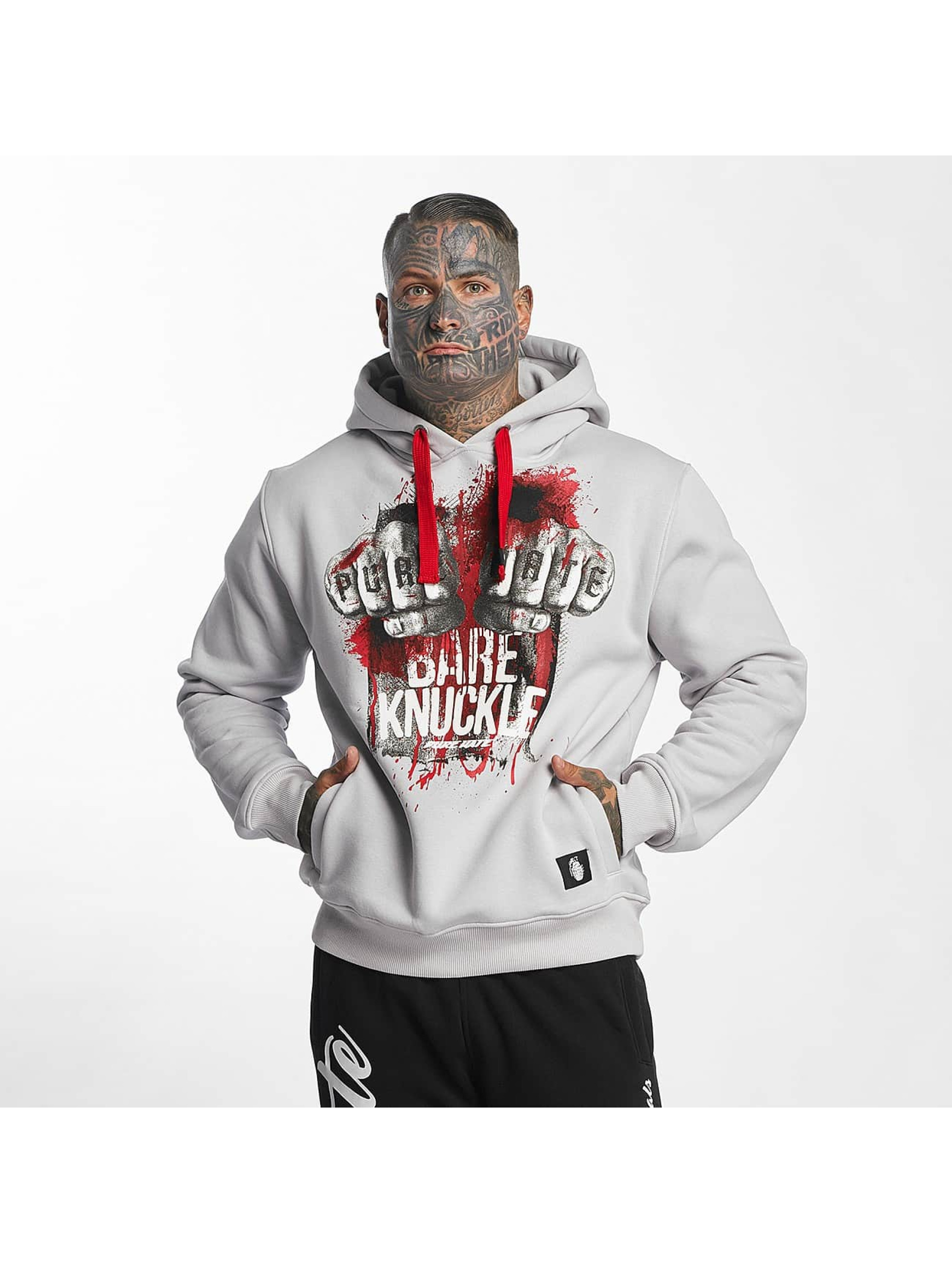 Pure Hate Hoodie Bare Knuckle gray