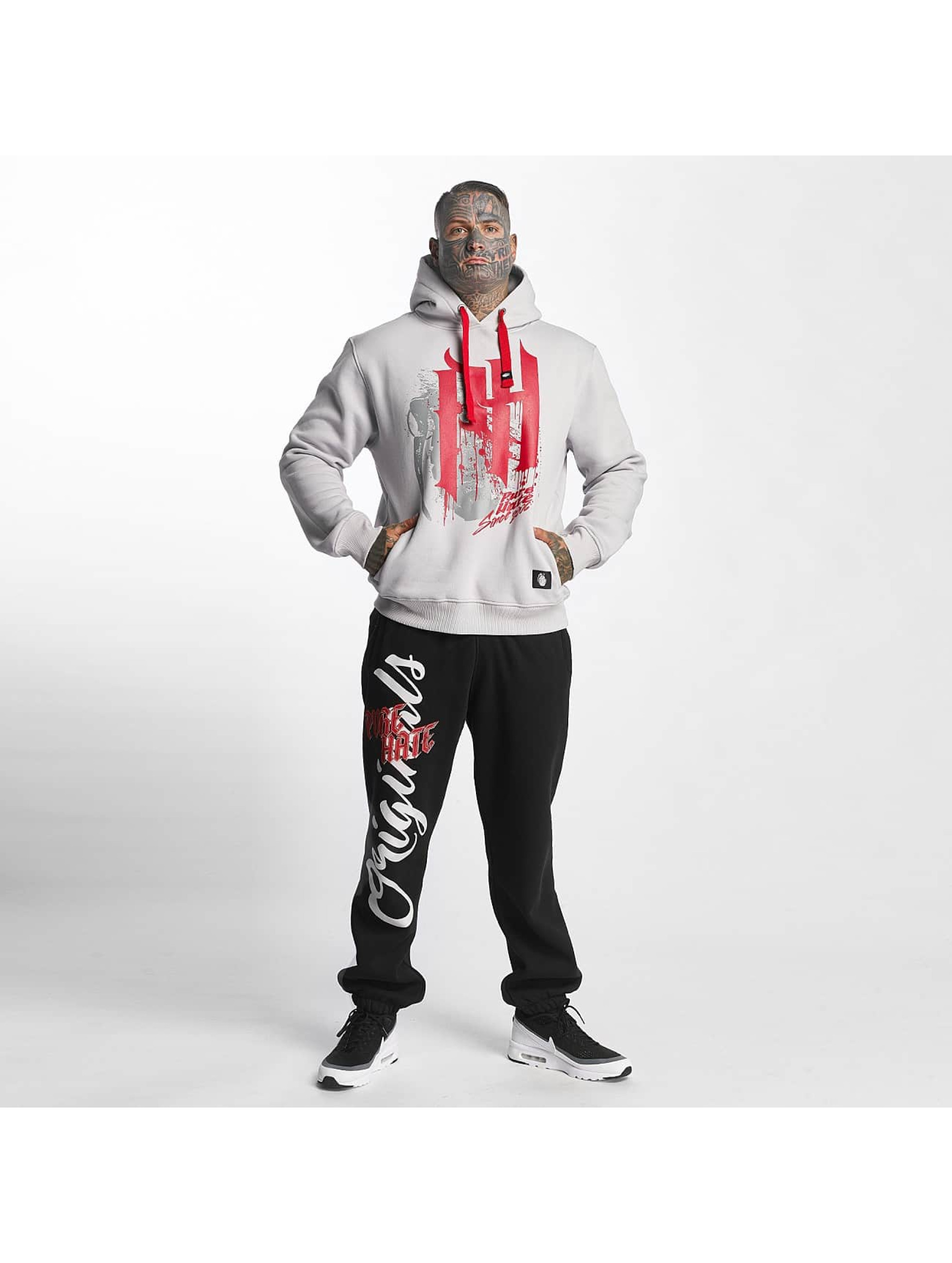 Pure Hate Hoodie Bloody Letters grey