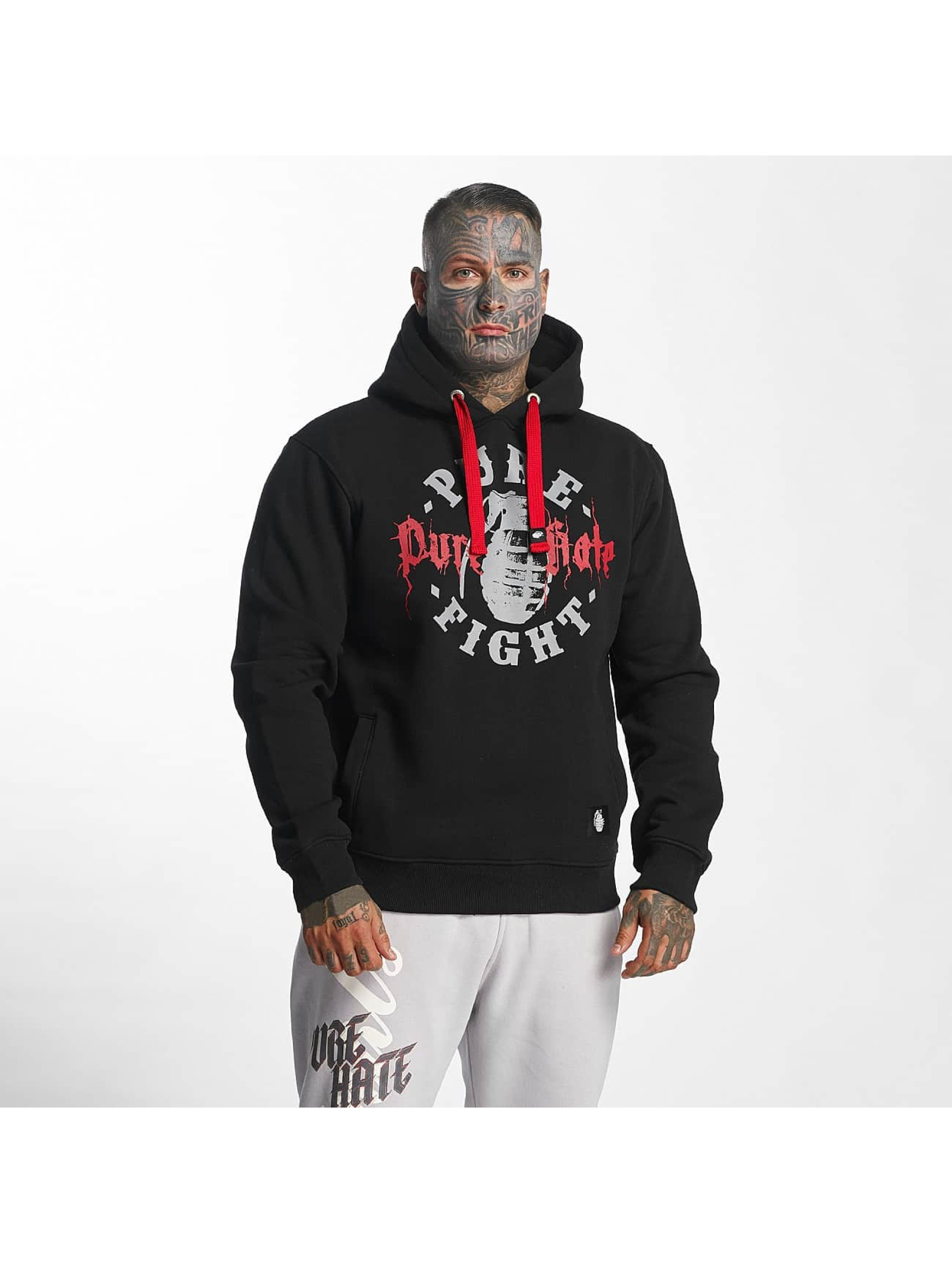 Pure Hate Hoody Pure Fight schwarz