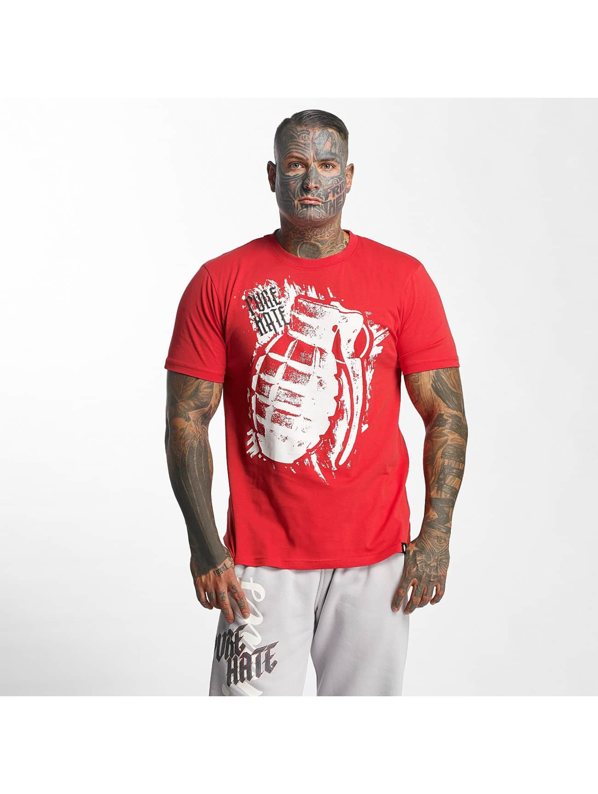 Pure Hate T-shirt Hand Grenade rosso