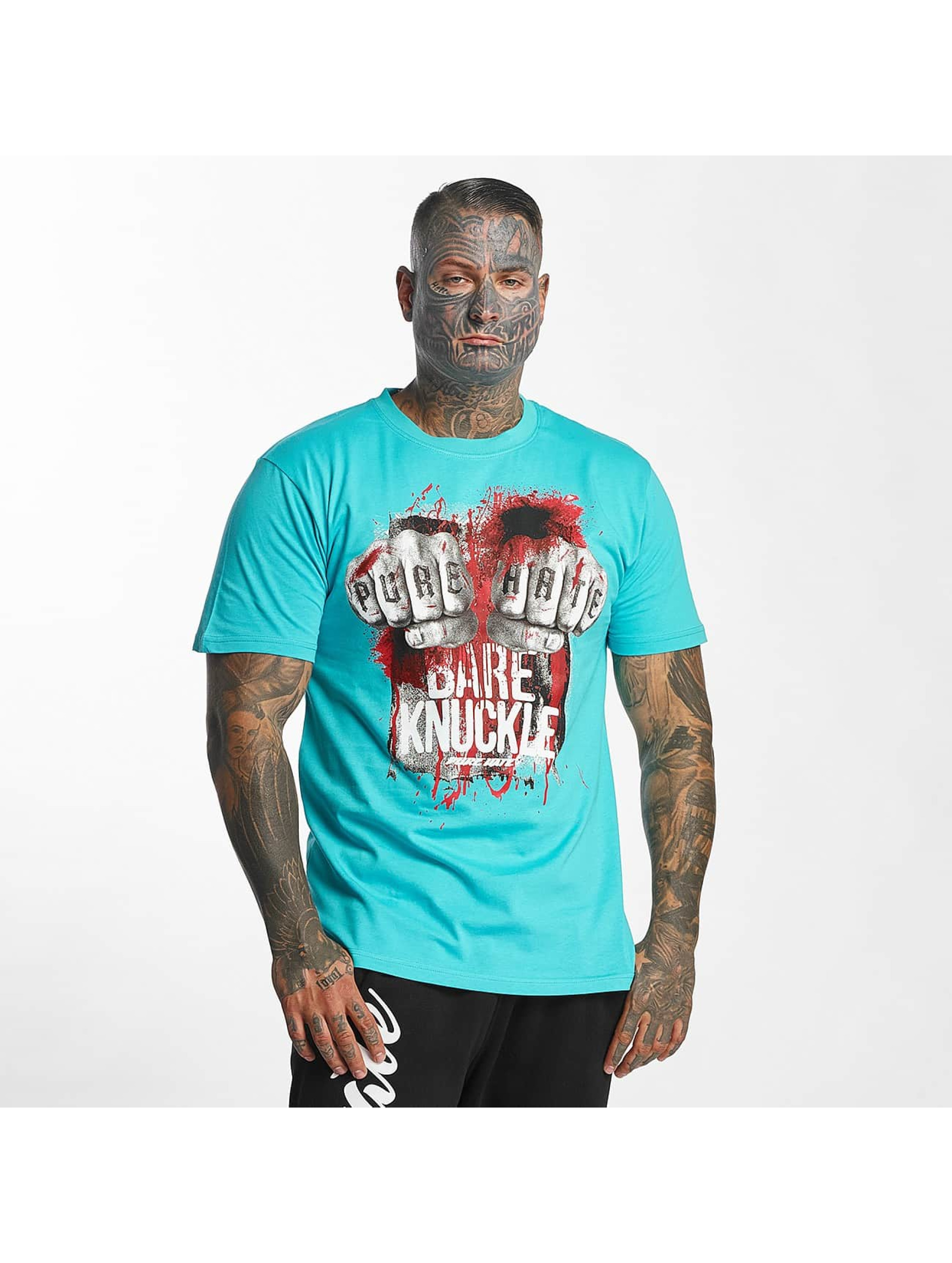Pure Hate T-shirt Bare Knuckle turchese