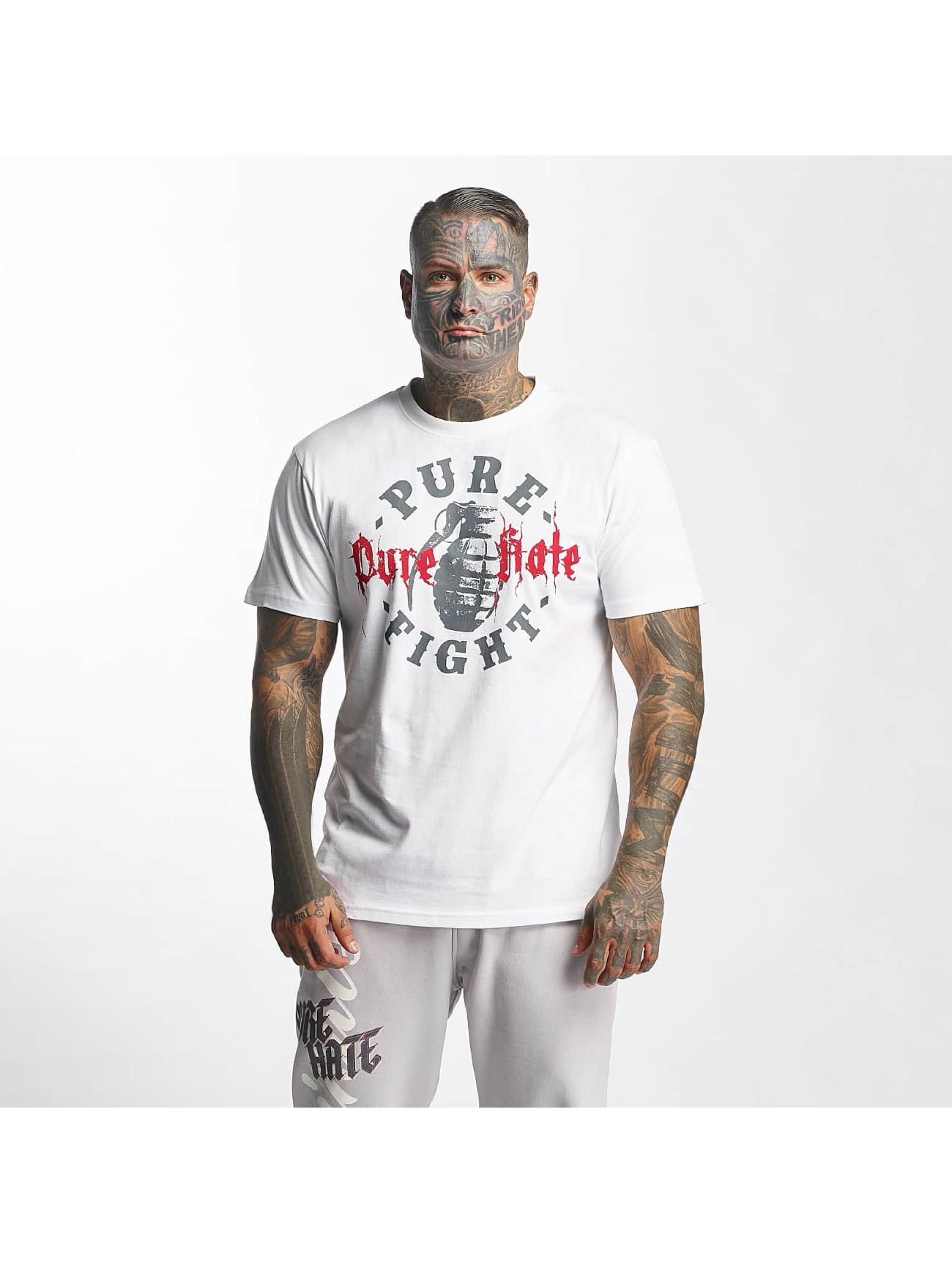 Pure Hate T-Shirt Pure Fight weiß