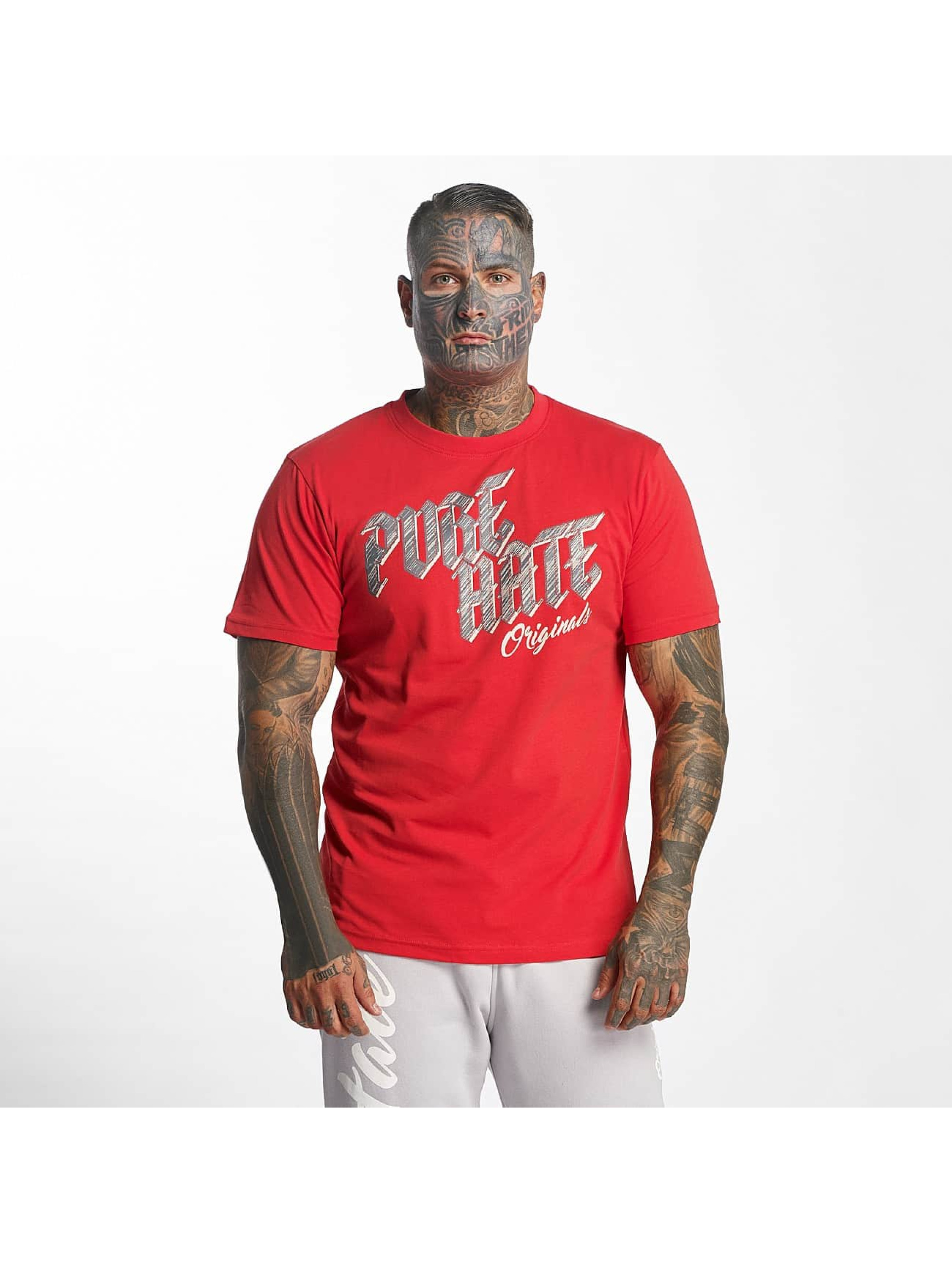 Pure Hate T-Shirty Pure Hate Originals czerwony