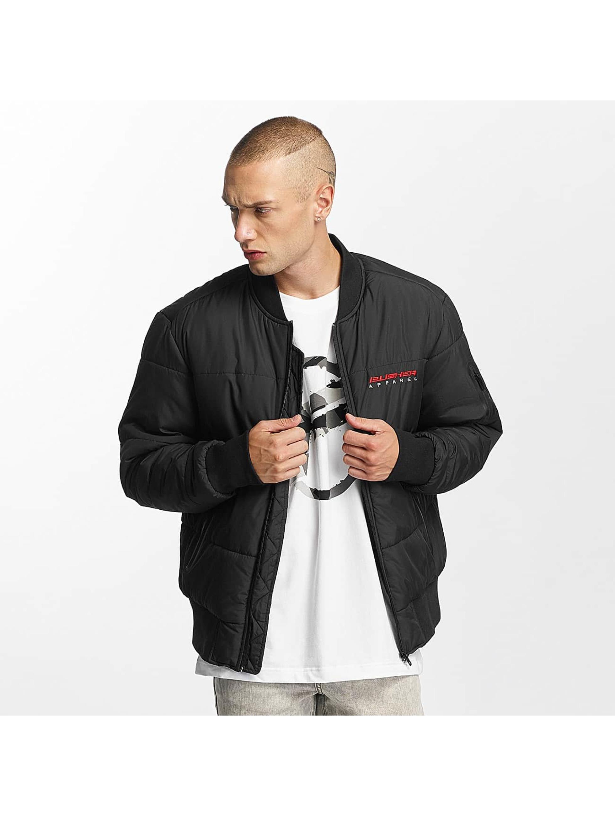 Pusher Apparel Bomber jacket Quilted Bomber black