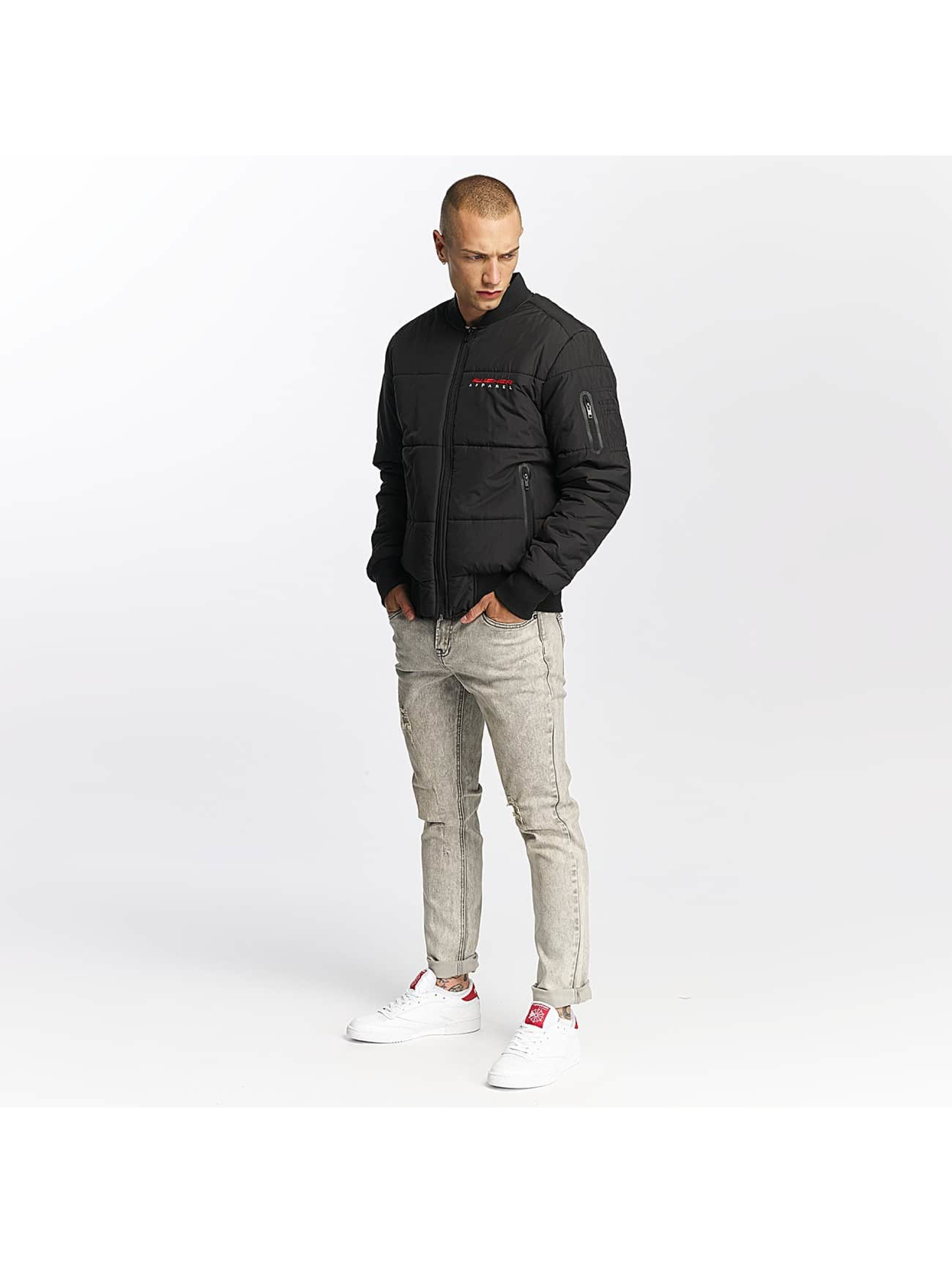 Pusher Apparel Pilottitakit Quilted Bomber musta