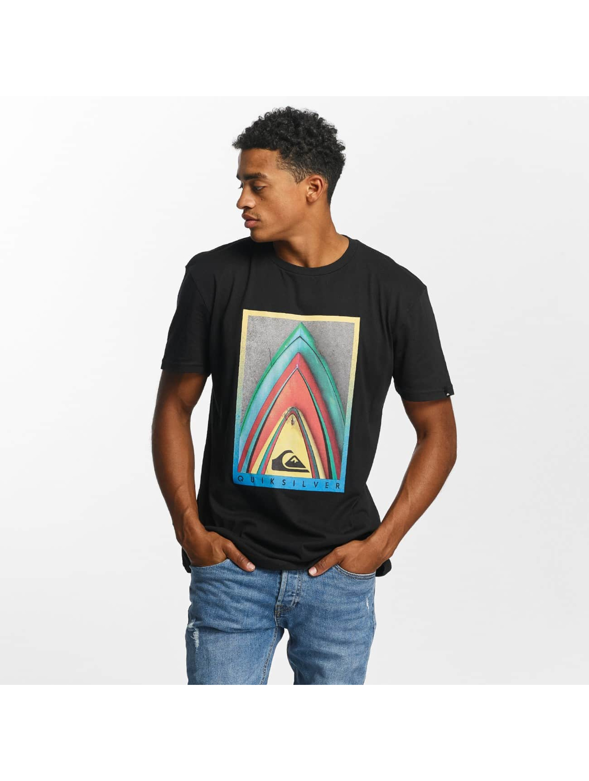 Quiksilver Camiseta Premium East Stacked negro