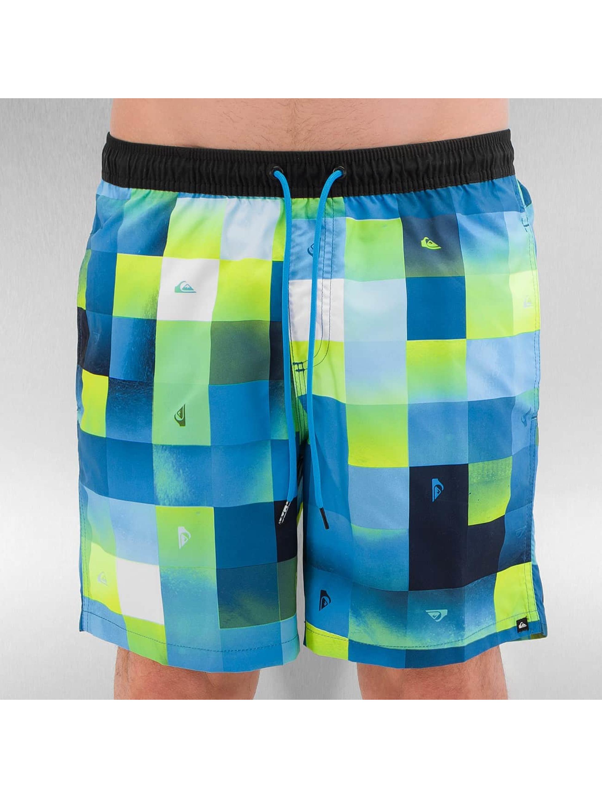 Quiksilver Kúpacie šortky Check Mark Volley 17 modrá